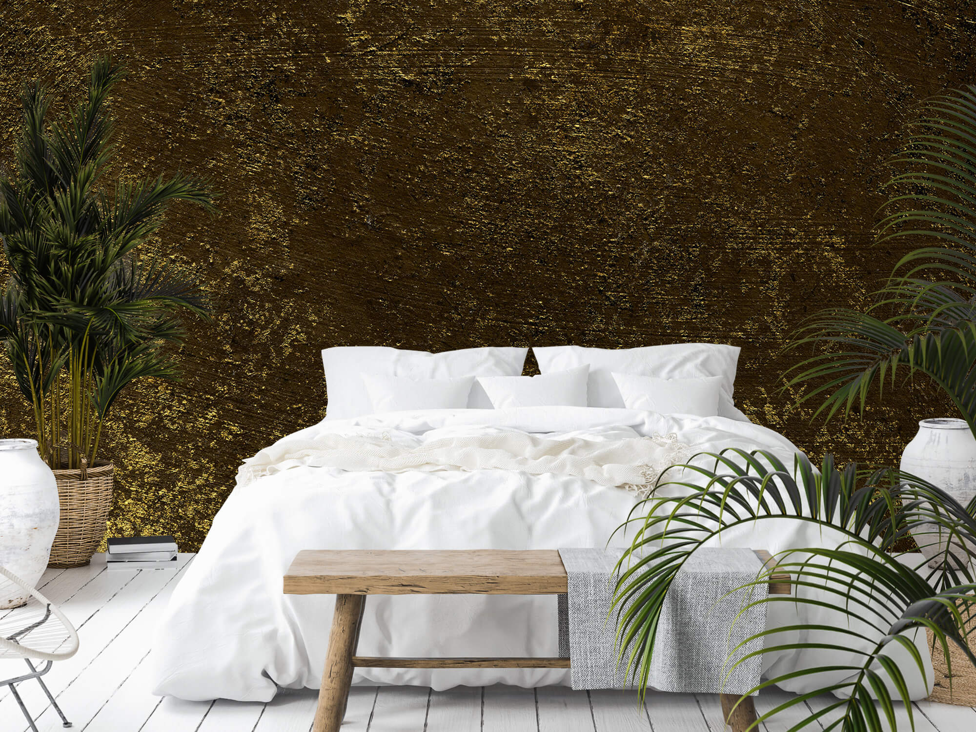 Texturen Gouden oplichtende structuur 1