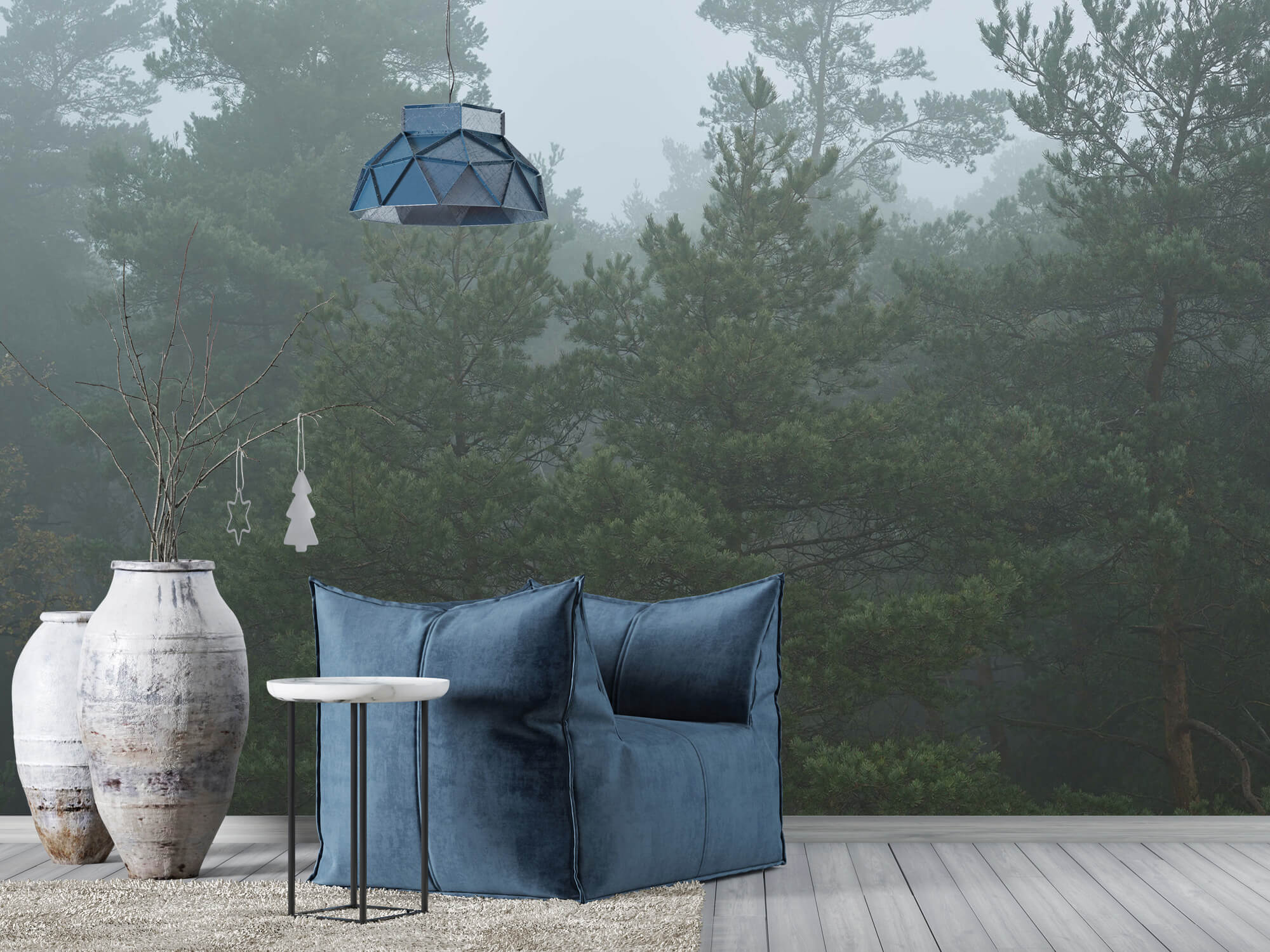 Natuur Naaldbomen in de mist 5