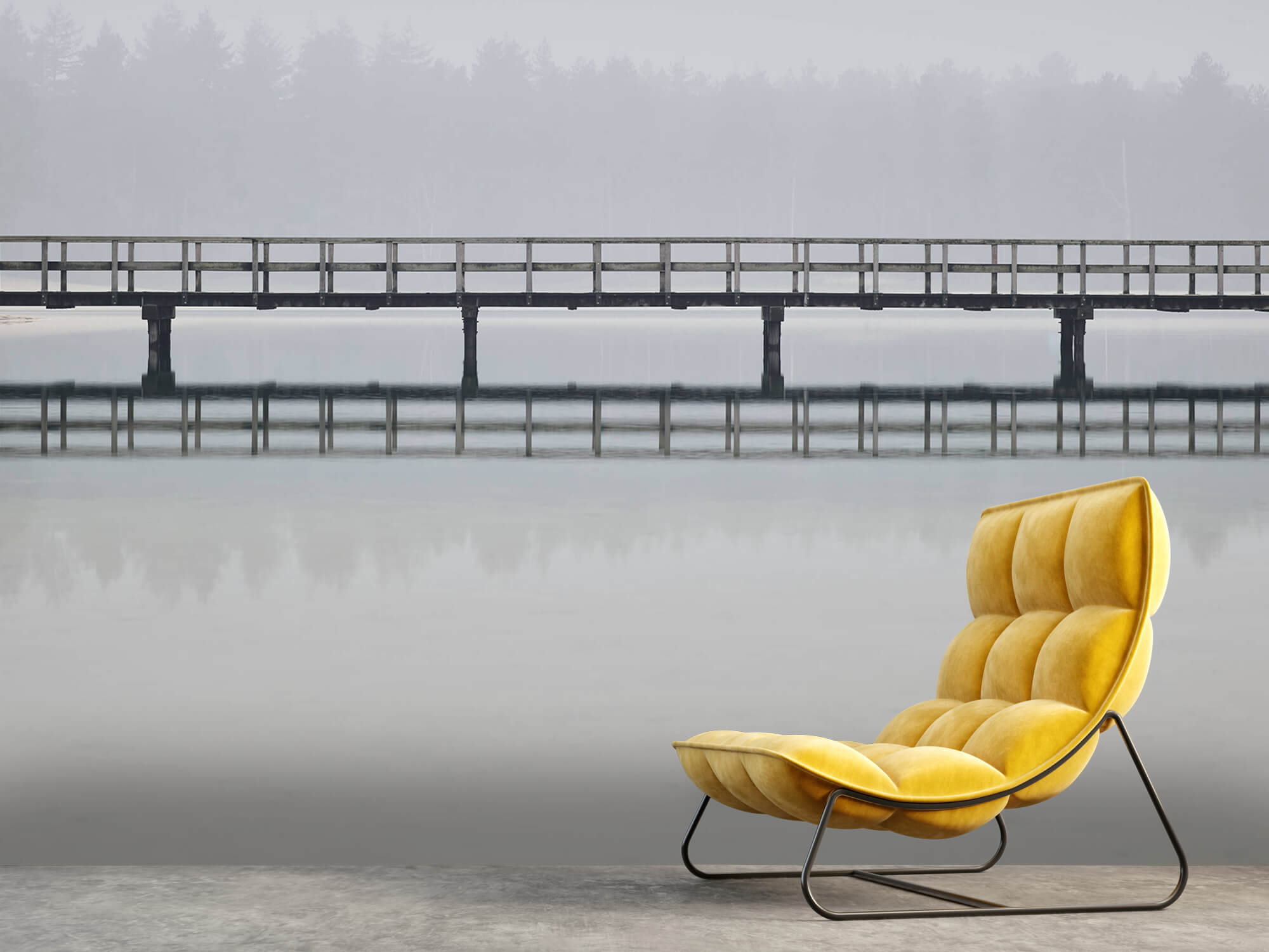 Natuur Brug in de mist 6