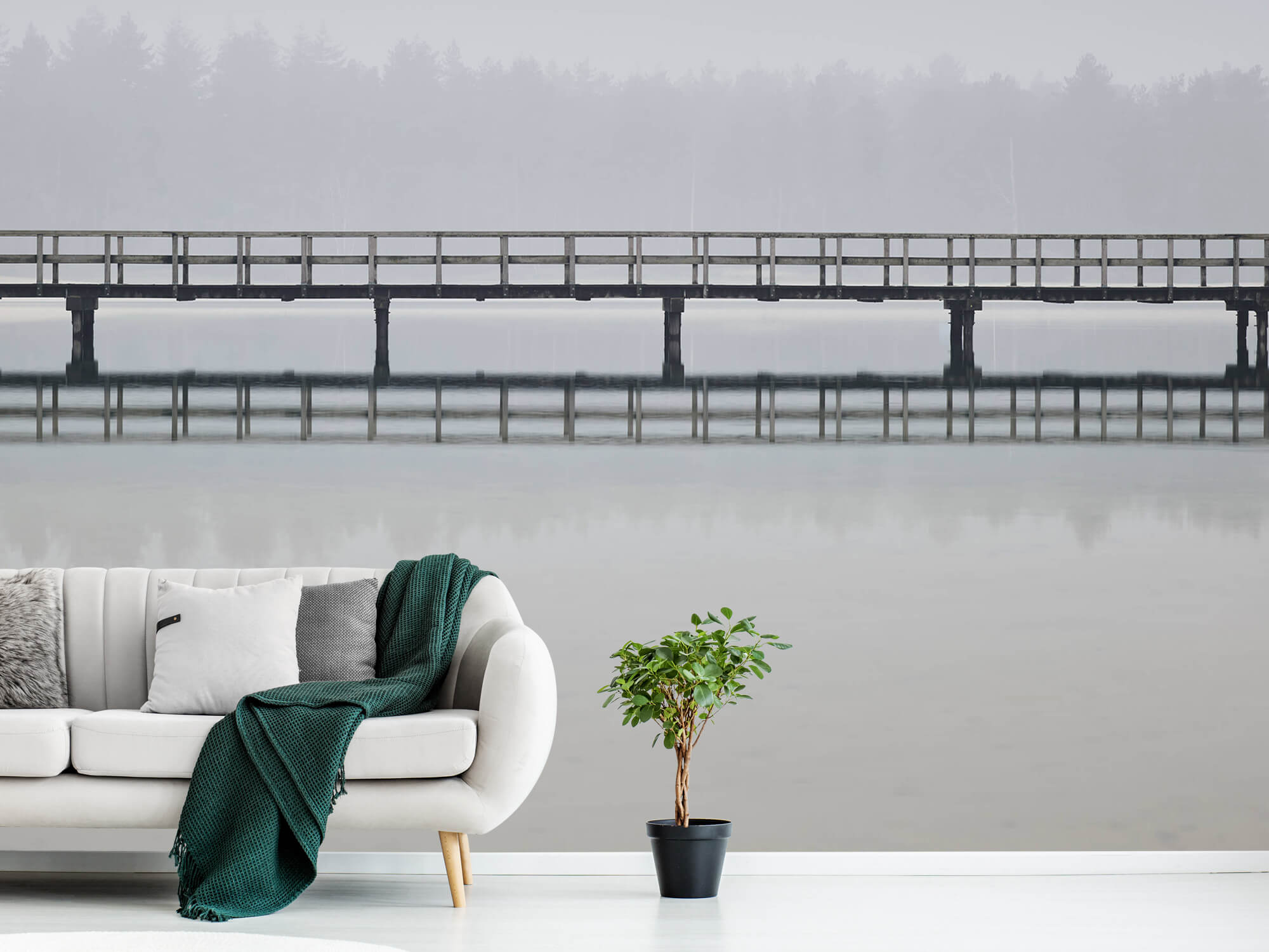 Natuur Brug in de mist 4