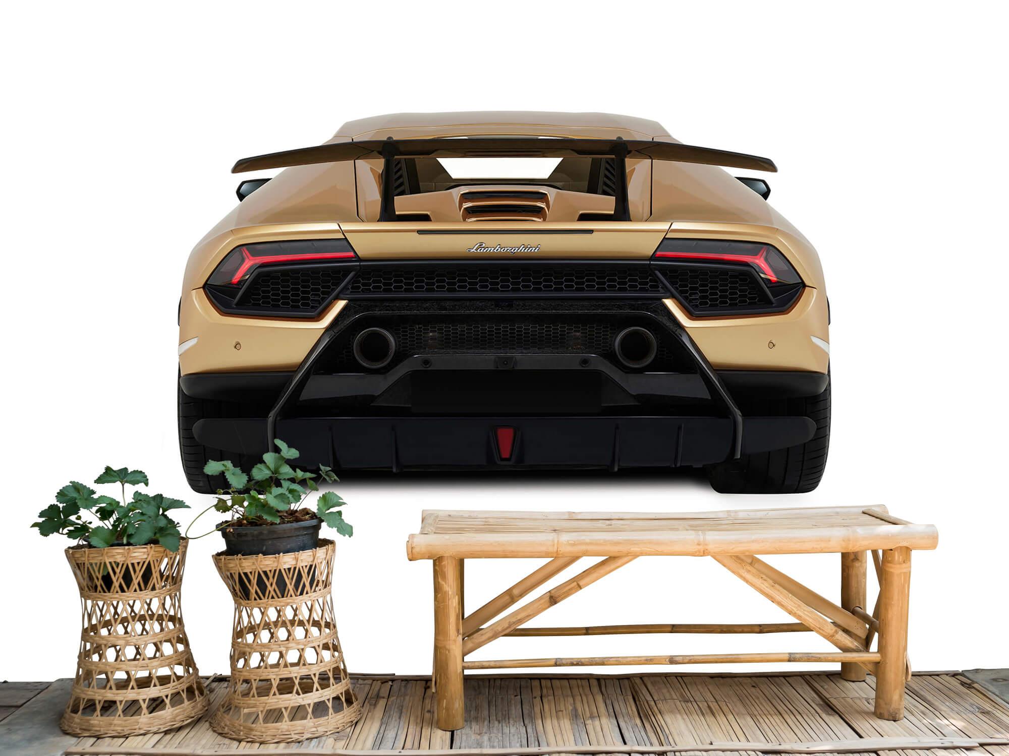 Wallpaper Lamborghini Huracán - Achterkant, wit 4