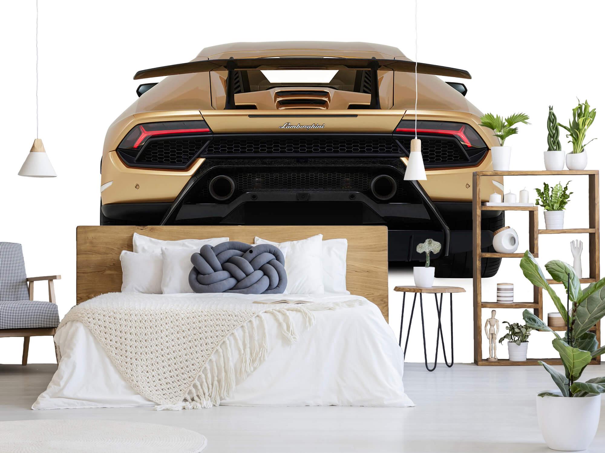 Wallpaper Lamborghini Huracán - Achterkant, wit 6