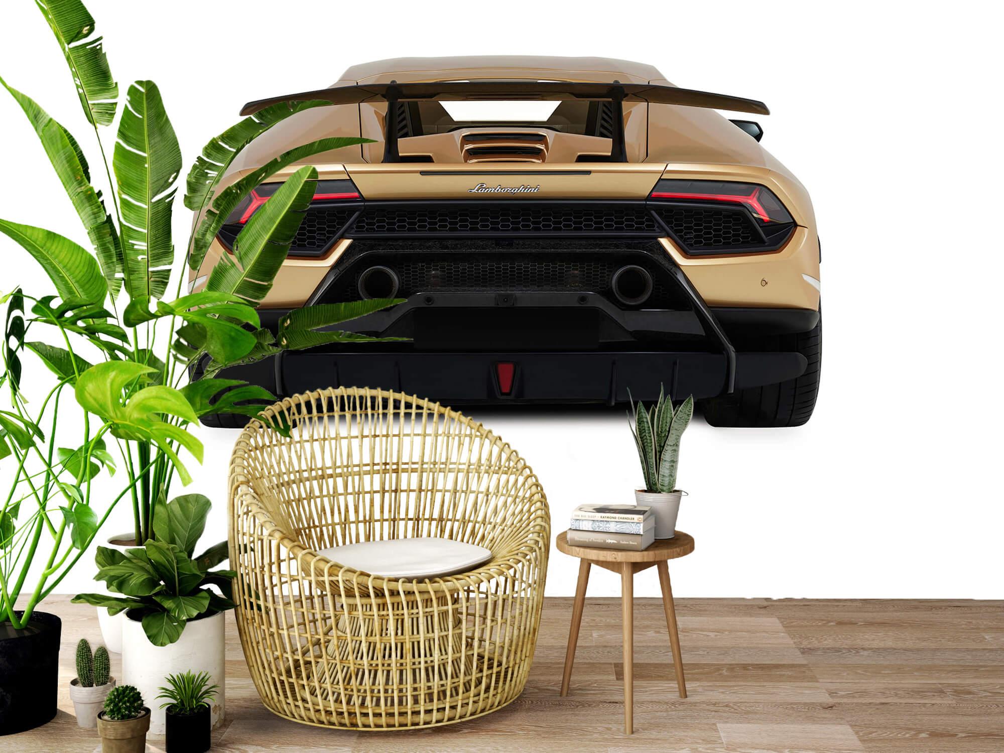 Wallpaper Lamborghini Huracán - Achterkant, wit 7