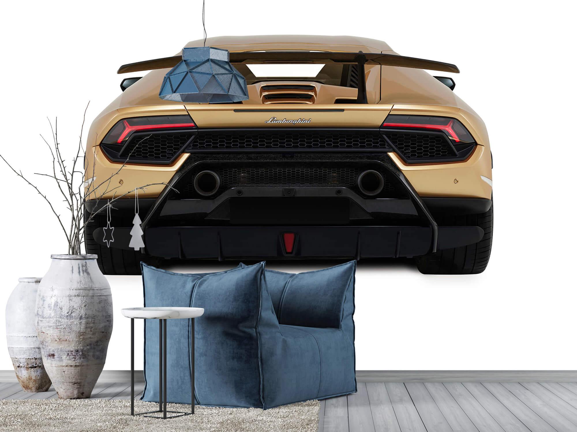Wallpaper Lamborghini Huracán - Achterkant, wit 9