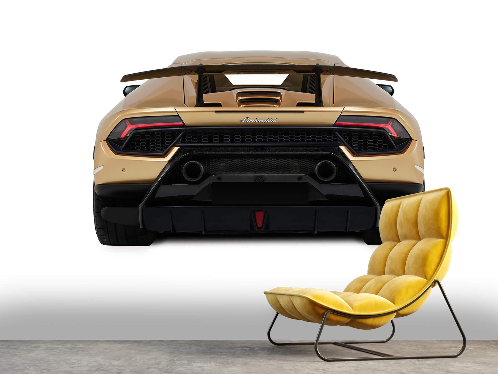 Wallpaper Lamborghini Huracán - Achterkant, wit 10