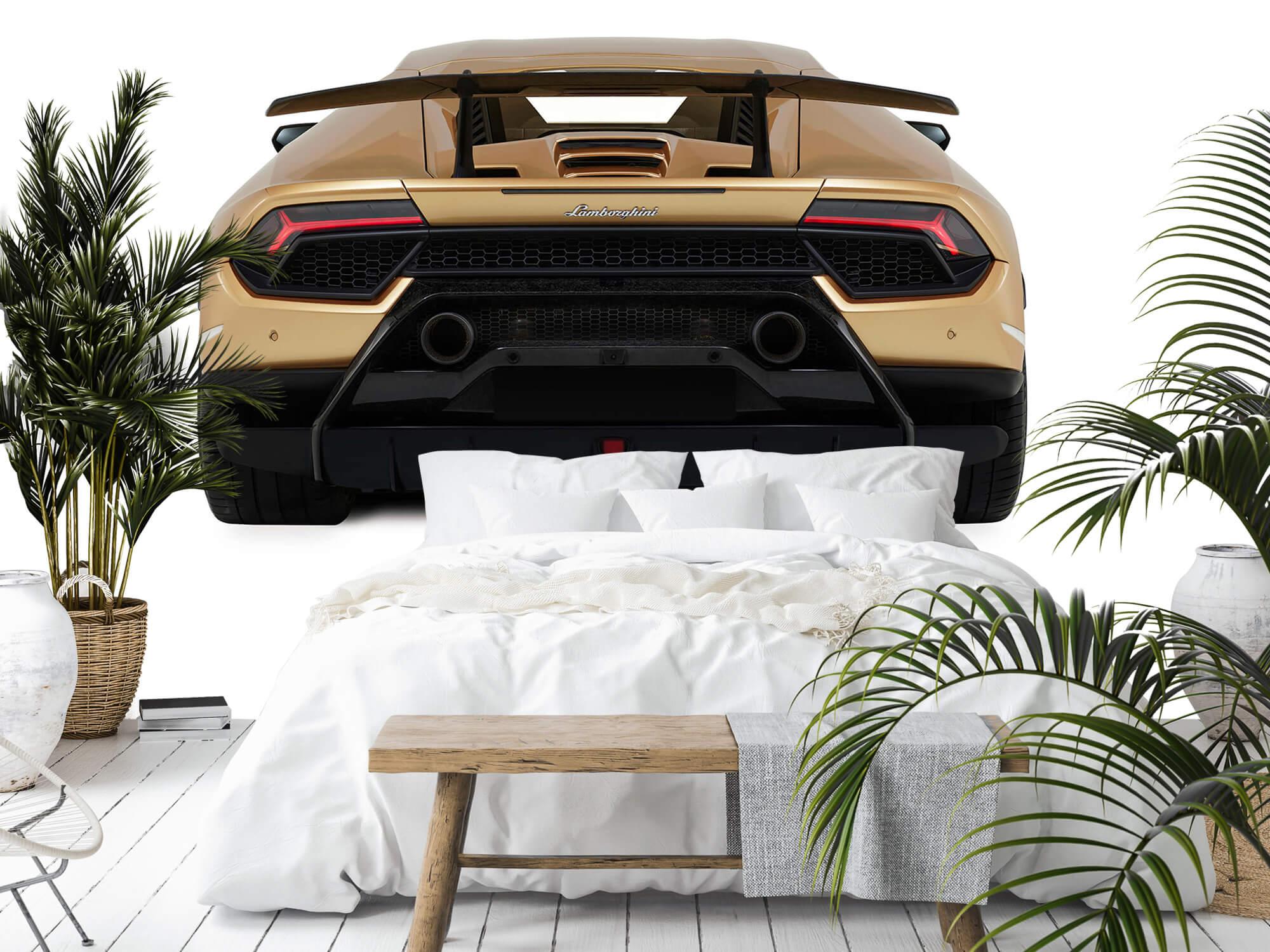 Wallpaper Lamborghini Huracán - Achterkant, wit 12