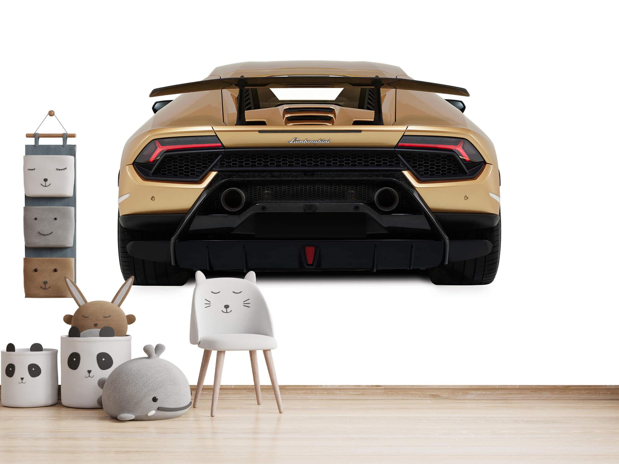 Wallpaper Lamborghini Huracán - Achterkant, wit 13