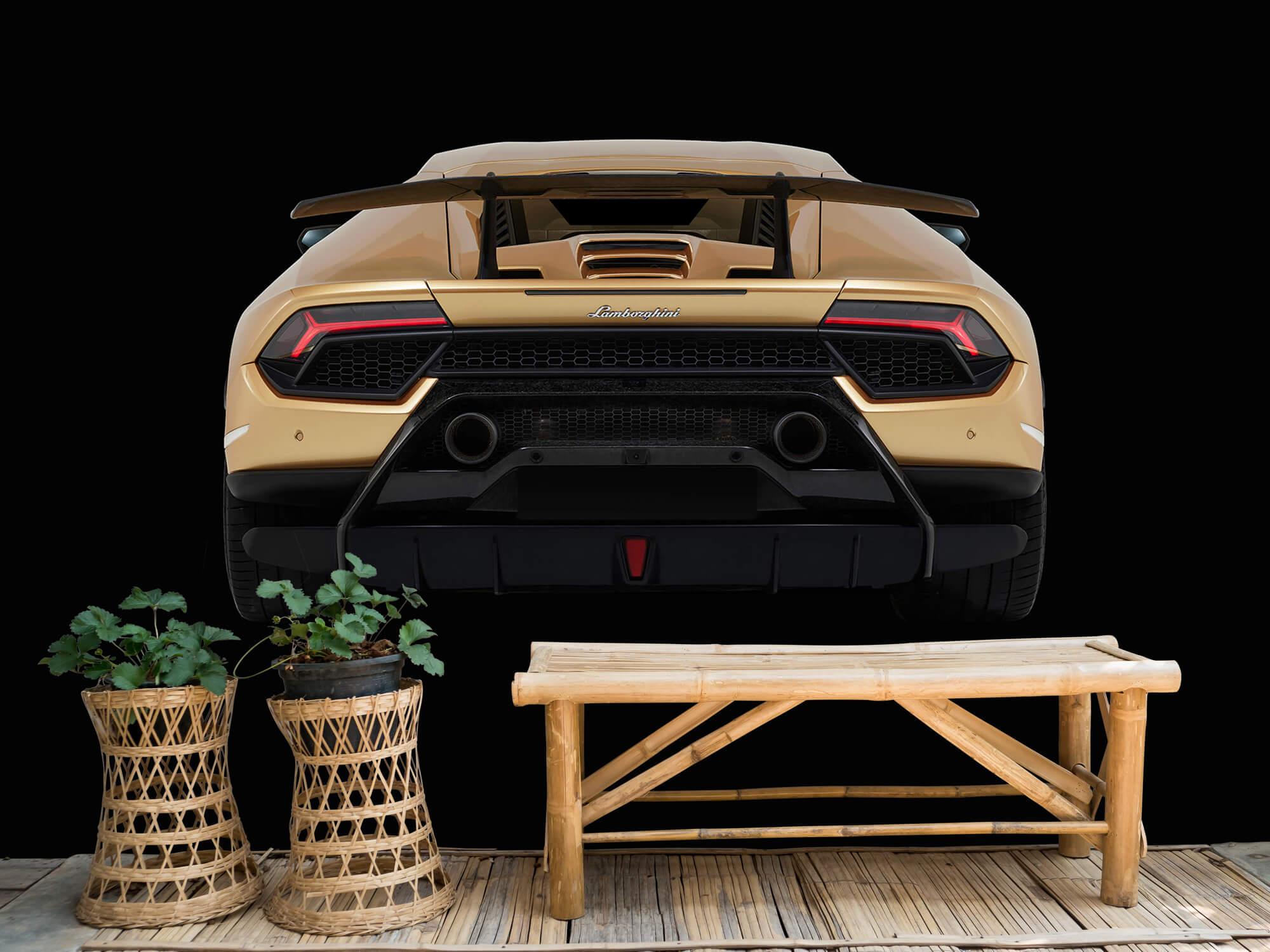 Wallpaper Lamborghini Huracán - Achterkant, zwart 3