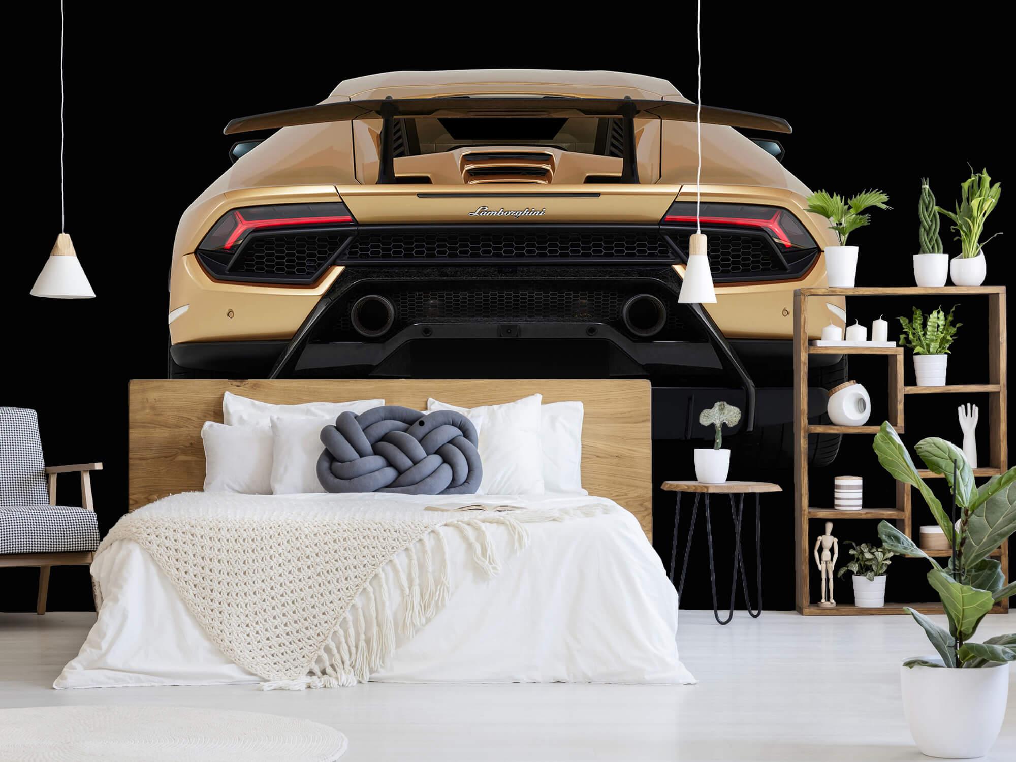 Wallpaper Lamborghini Huracán - Achterkant, zwart 1