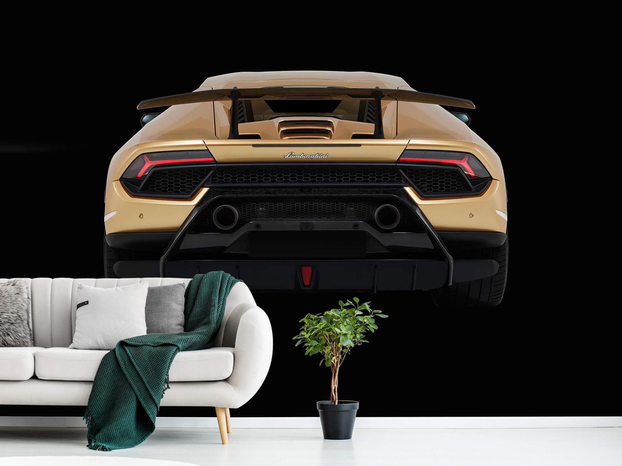 Wallpaper Lamborghini Huracán - Achterkant, zwart 12