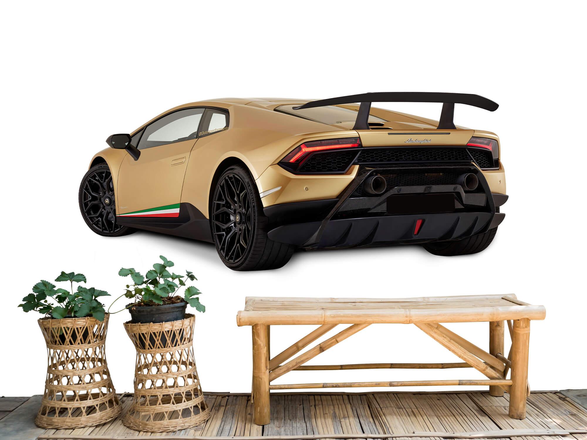 Wallpaper Lamborghini Huracán - Linker achterkant, wit 6