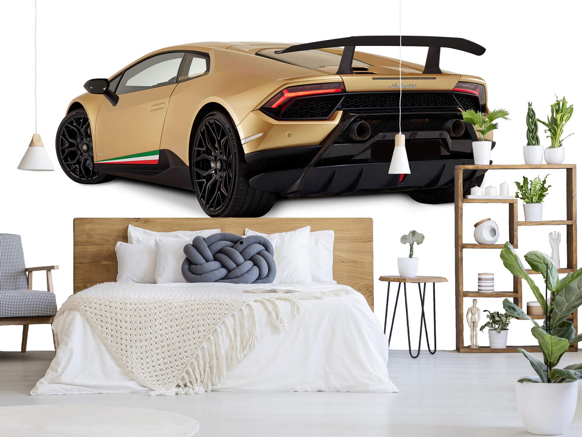 Wallpaper Lamborghini Huracán - Linker achterkant, wit 7