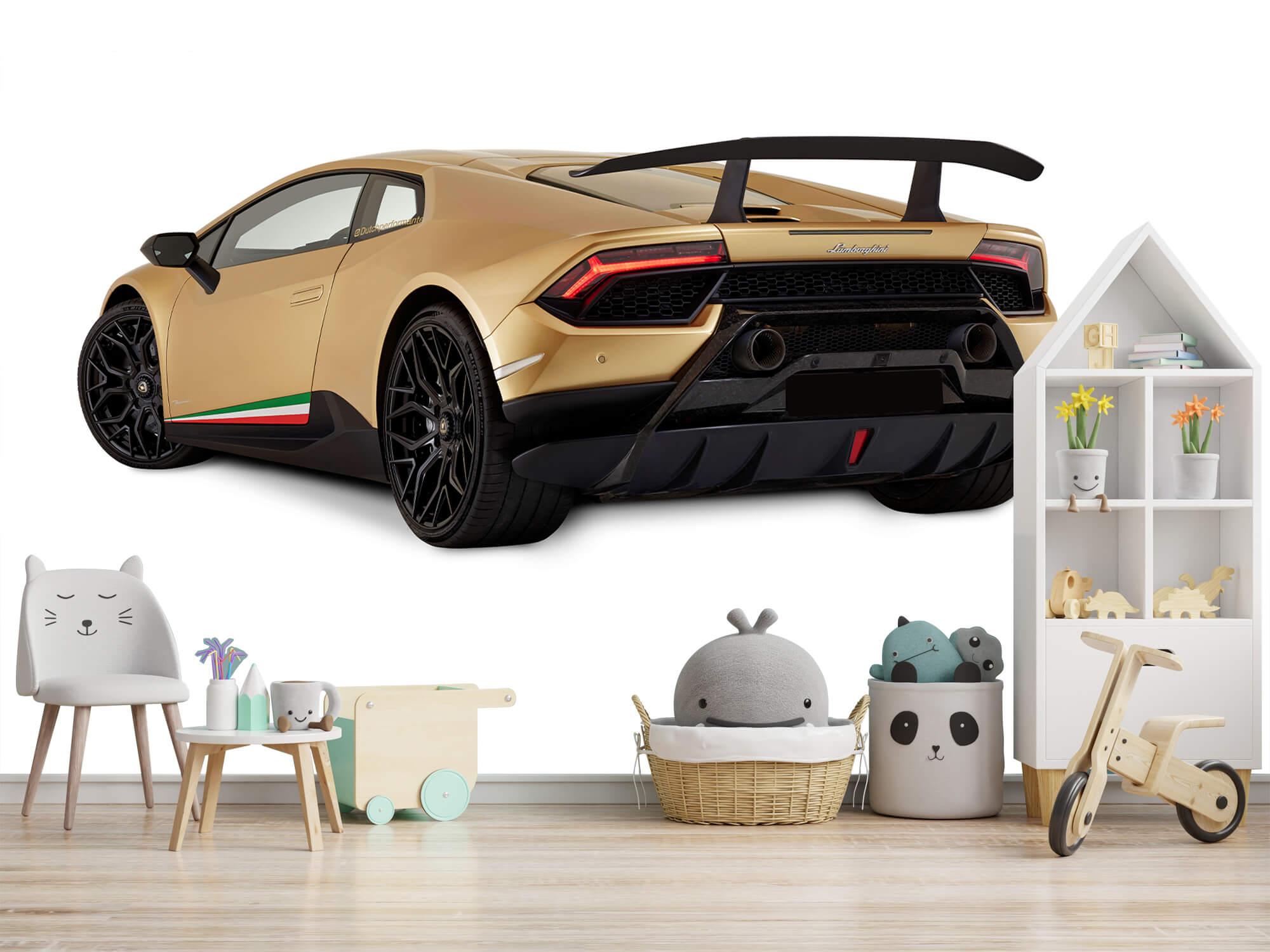 Wallpaper Lamborghini Huracán - Linker achterkant, wit 8
