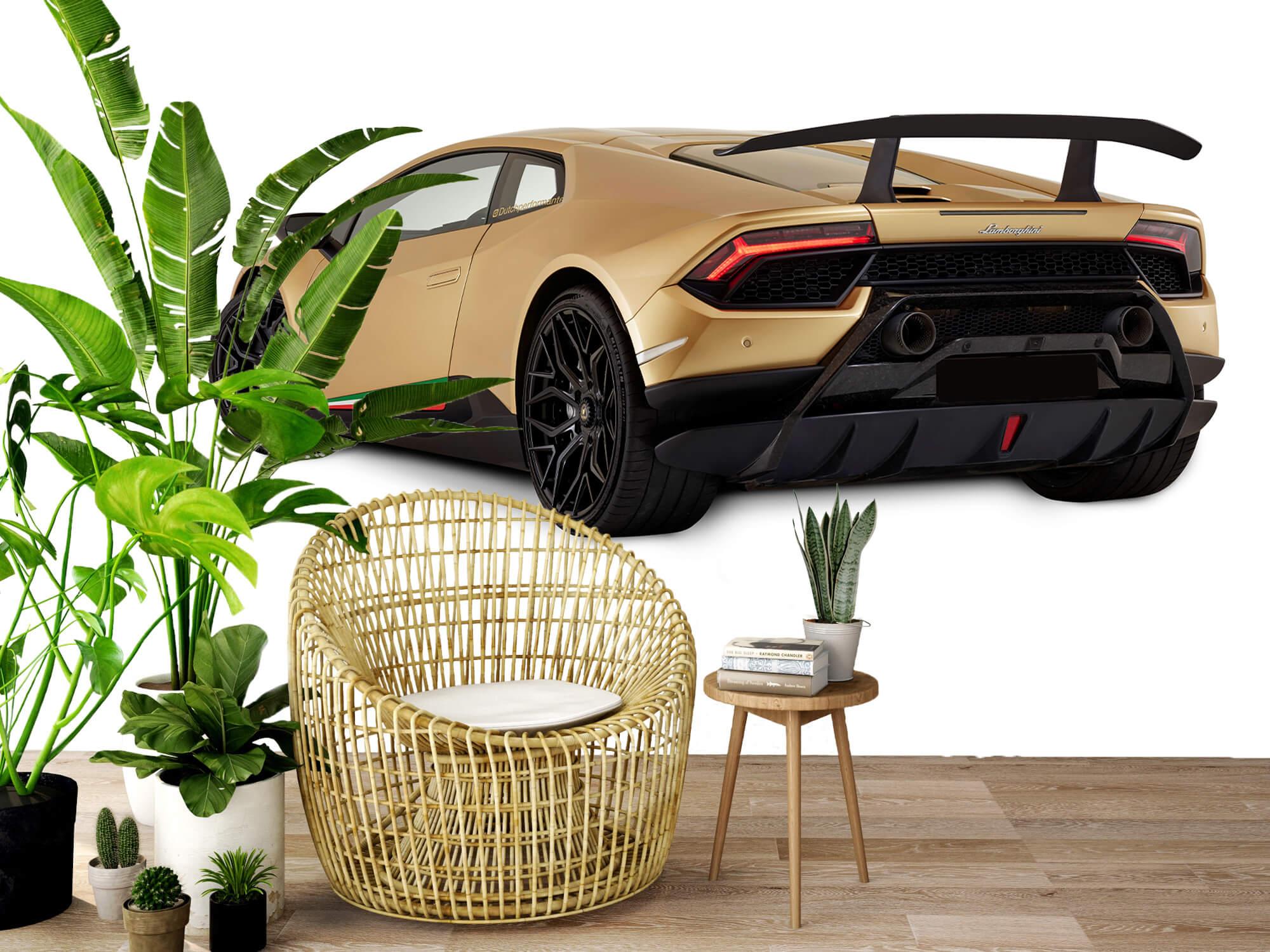 Wallpaper Lamborghini Huracán - Linker achterkant, wit 9