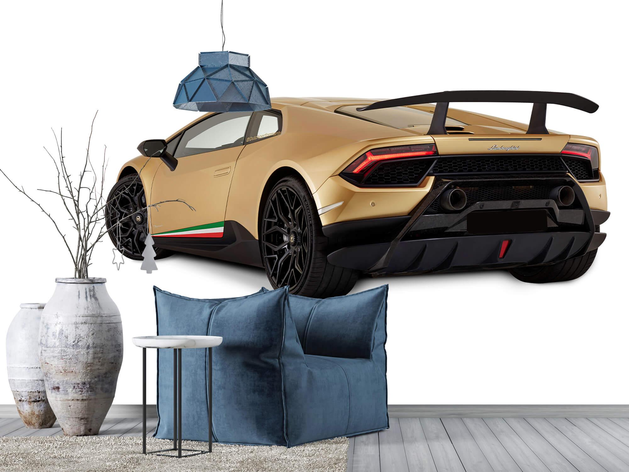 Wallpaper Lamborghini Huracán - Linker achterkant, wit 5