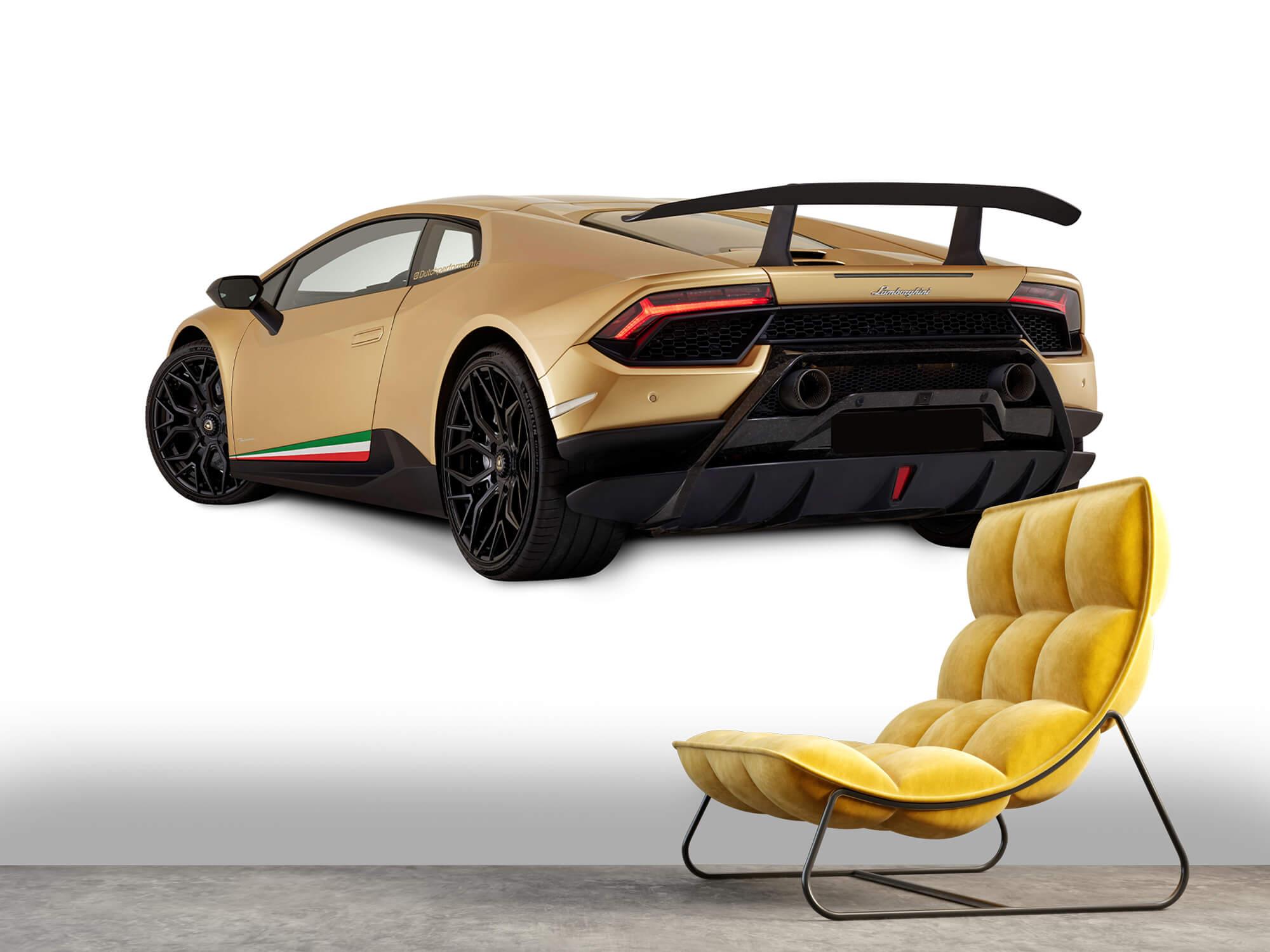 Wallpaper Lamborghini Huracán - Linker achterkant, wit 11