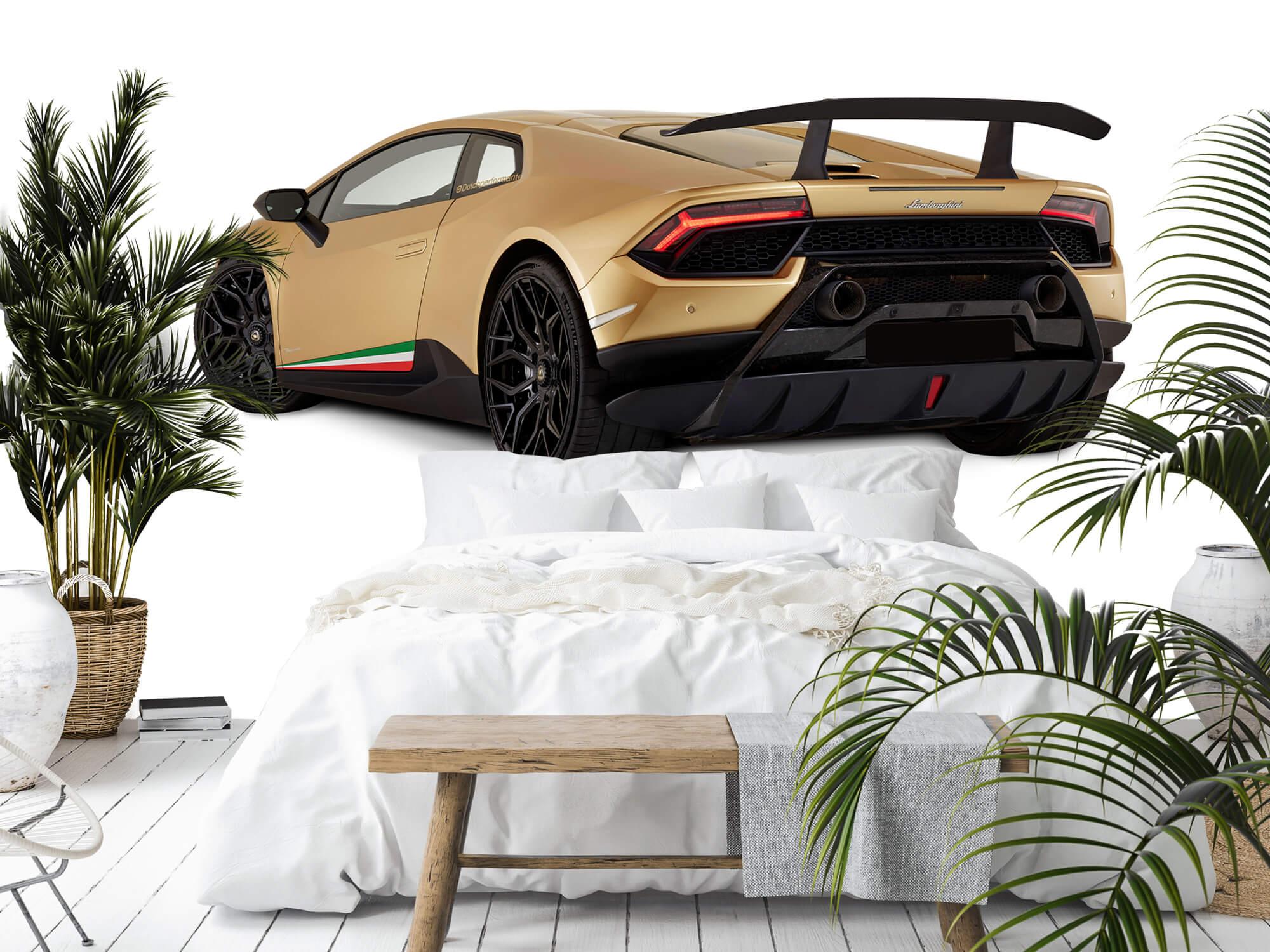 Wallpaper Lamborghini Huracán - Linker achterkant, wit 2