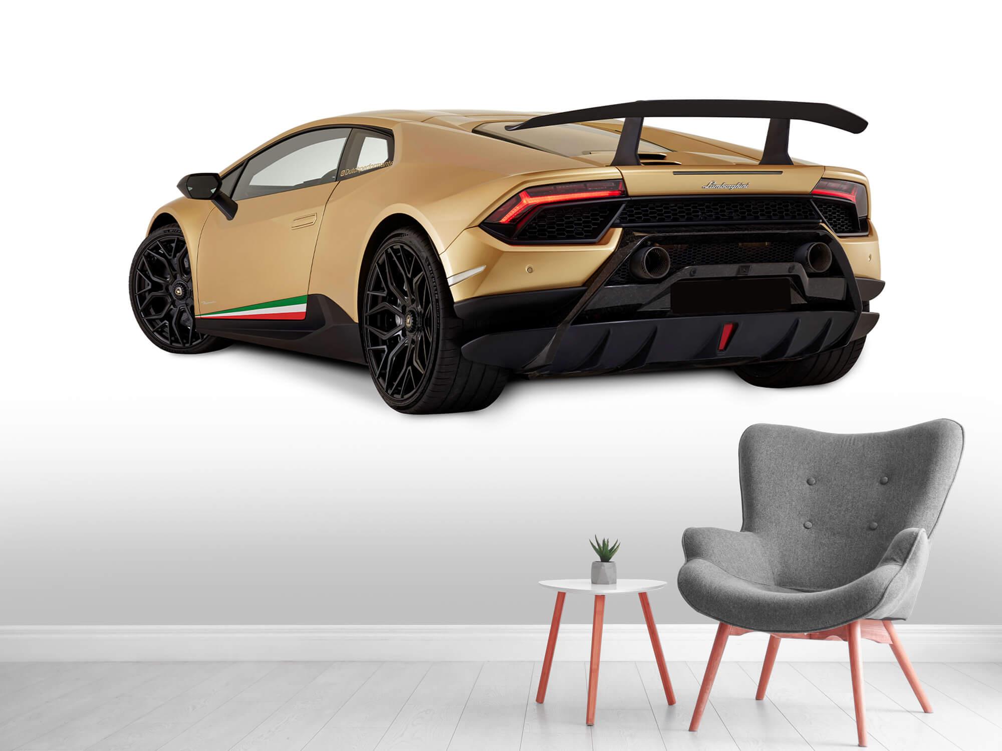 Wallpaper Lamborghini Huracán - Linker achterkant, wit 4