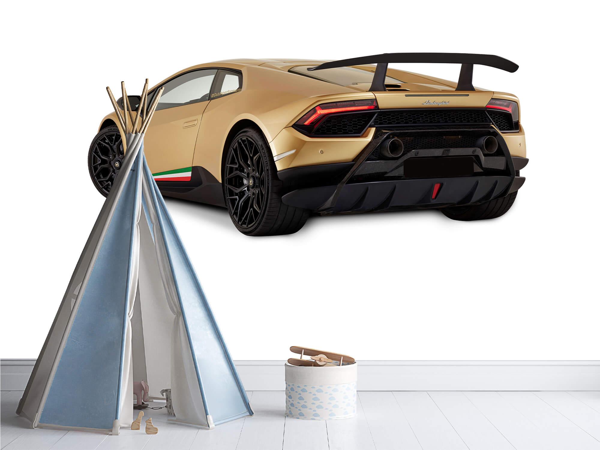 Wallpaper Lamborghini Huracán - Linker achterkant, wit 12