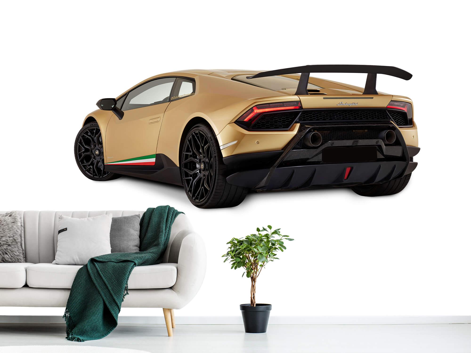 Wallpaper Lamborghini Huracán - Linker achterkant, wit 1