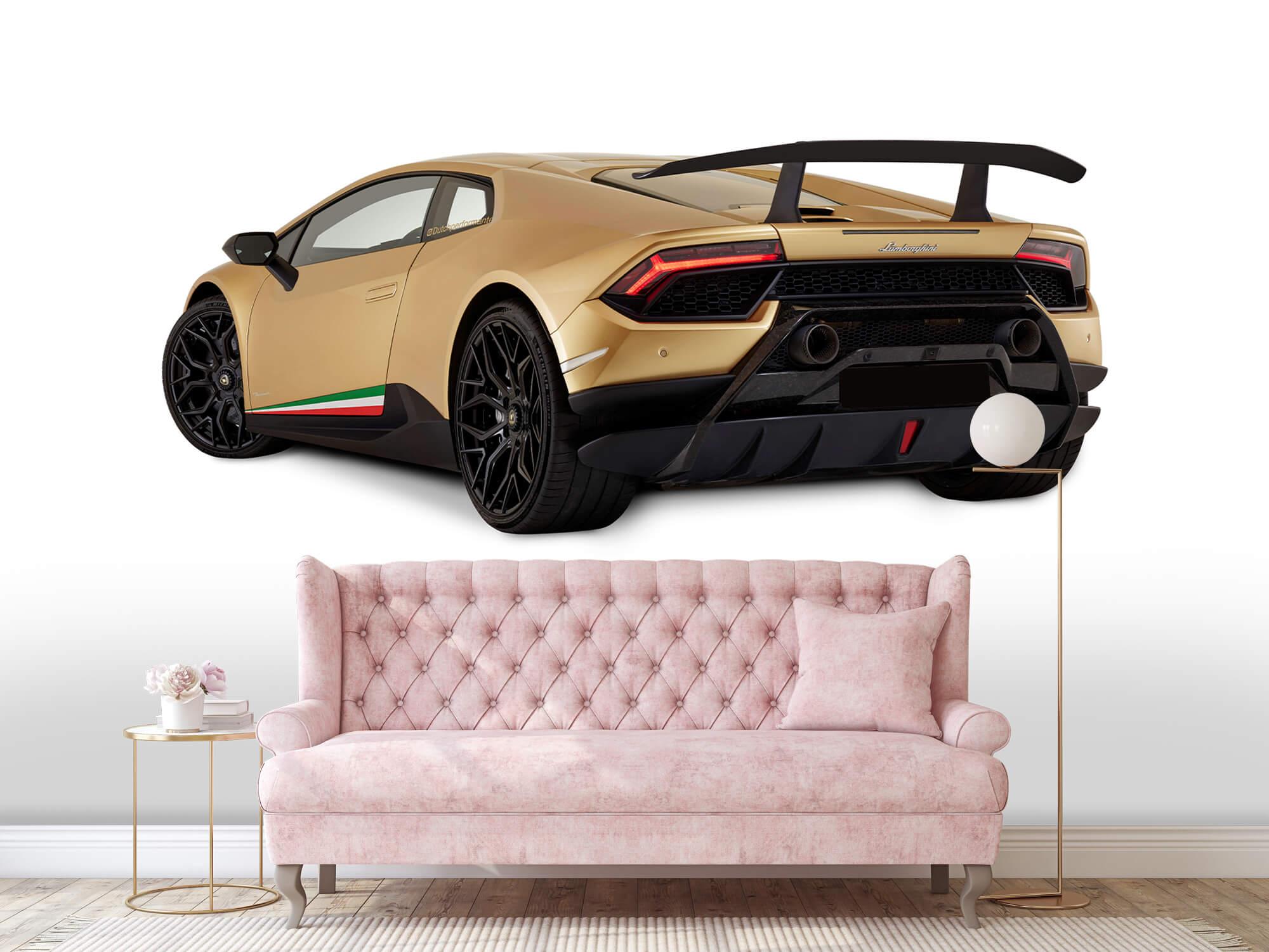 Wallpaper Lamborghini Huracán - Linker achterkant, wit 13