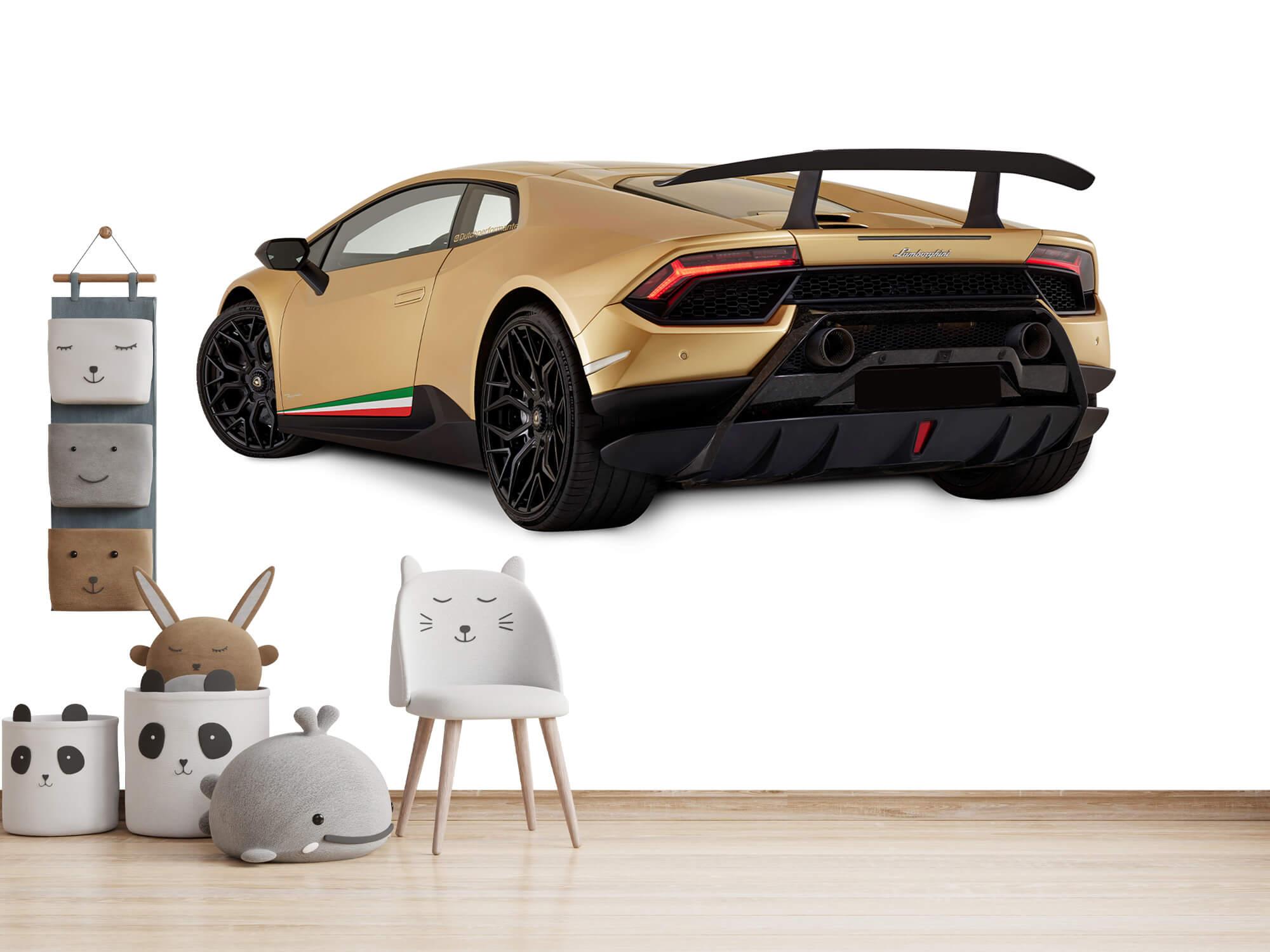 Wallpaper Lamborghini Huracán - Linker achterkant, wit 14