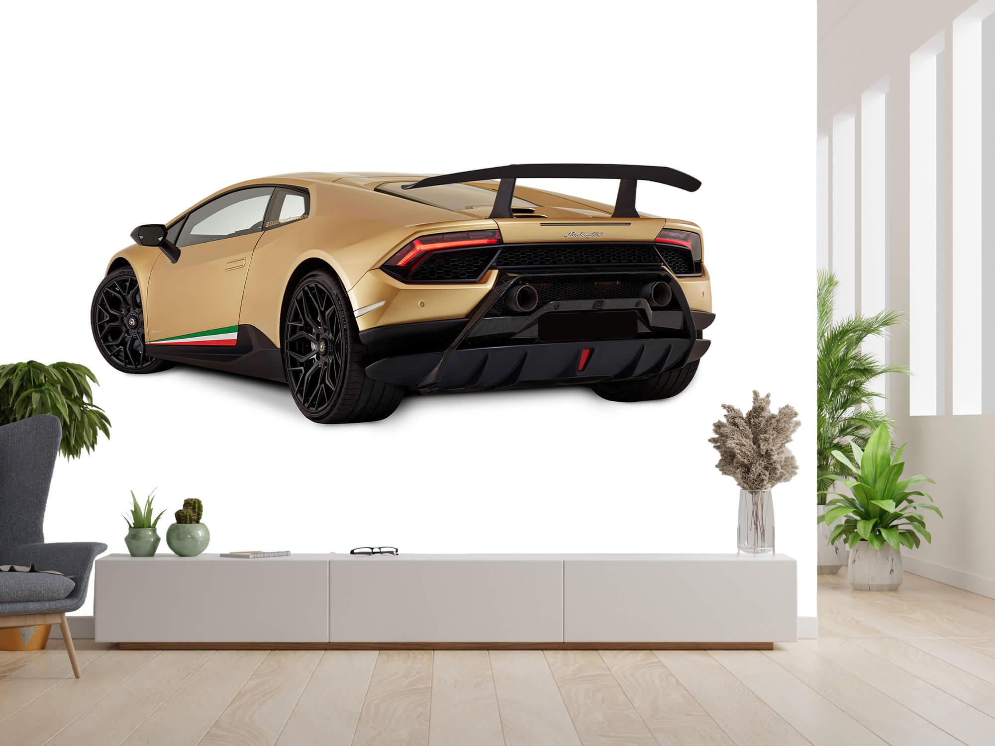 Wallpaper Lamborghini Huracán - Linker achterkant, wit 3