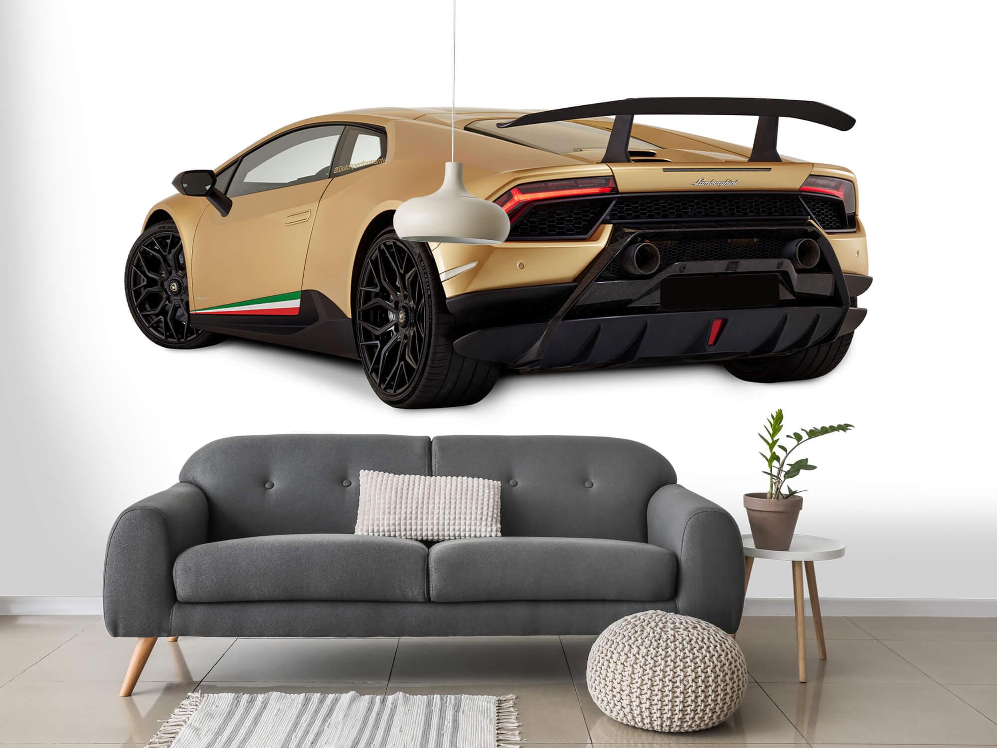 Wallpaper Lamborghini Huracán - Linker achterkant, wit 15