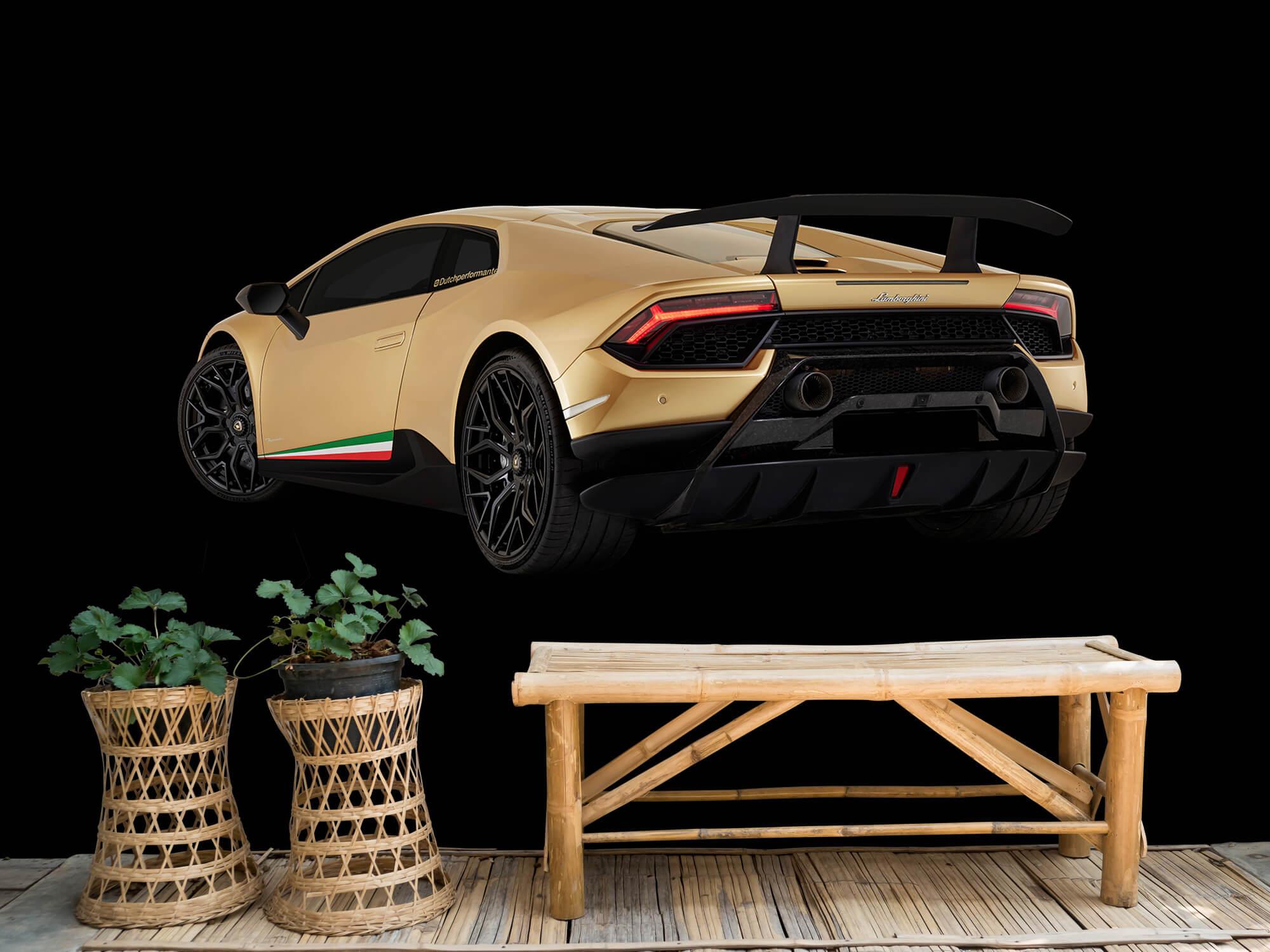 Wallpaper Lamborghini Huracán - Linker achterkant, zwart 6