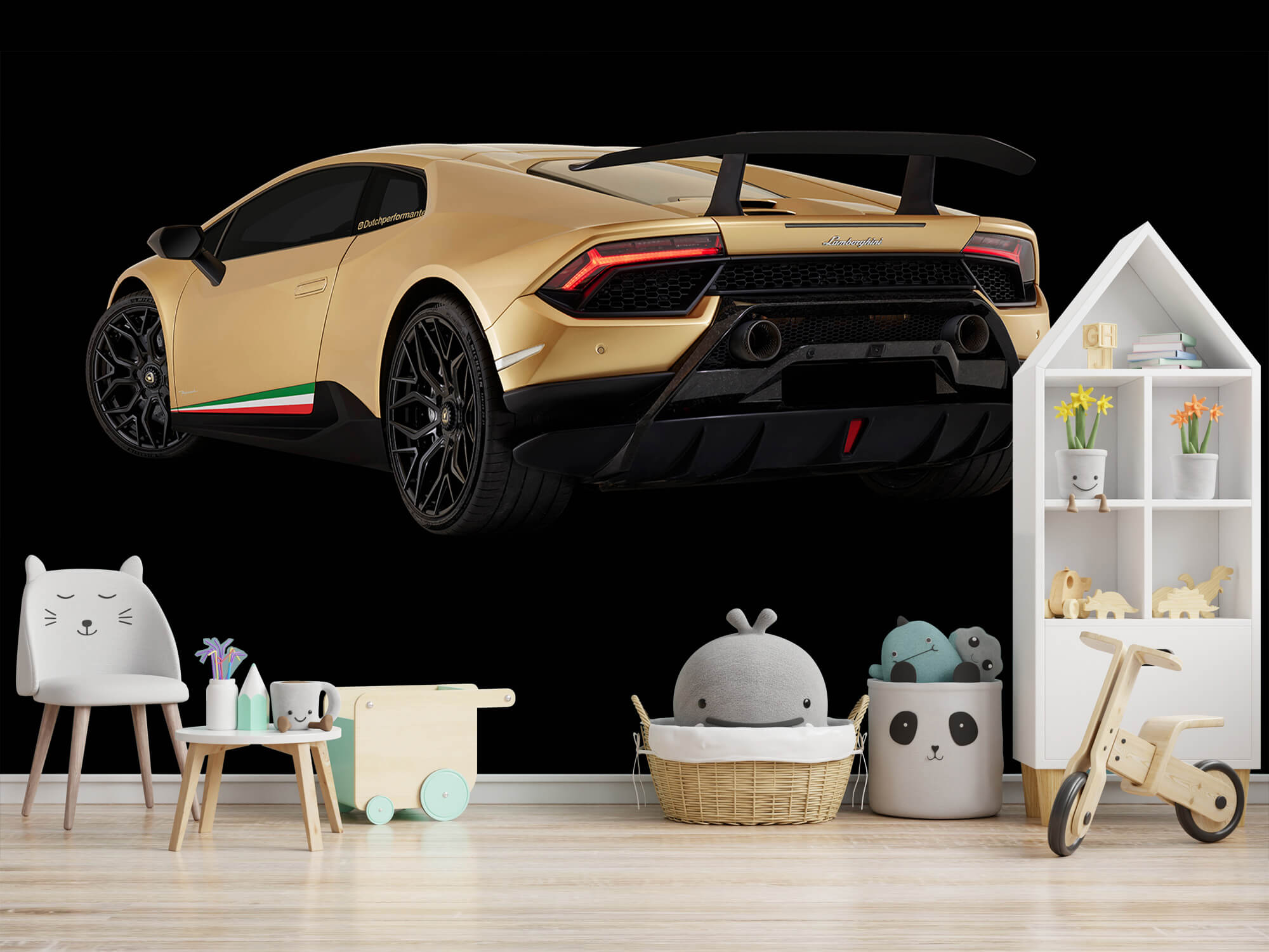 Wallpaper Lamborghini Huracán - Linker achterkant, zwart 7