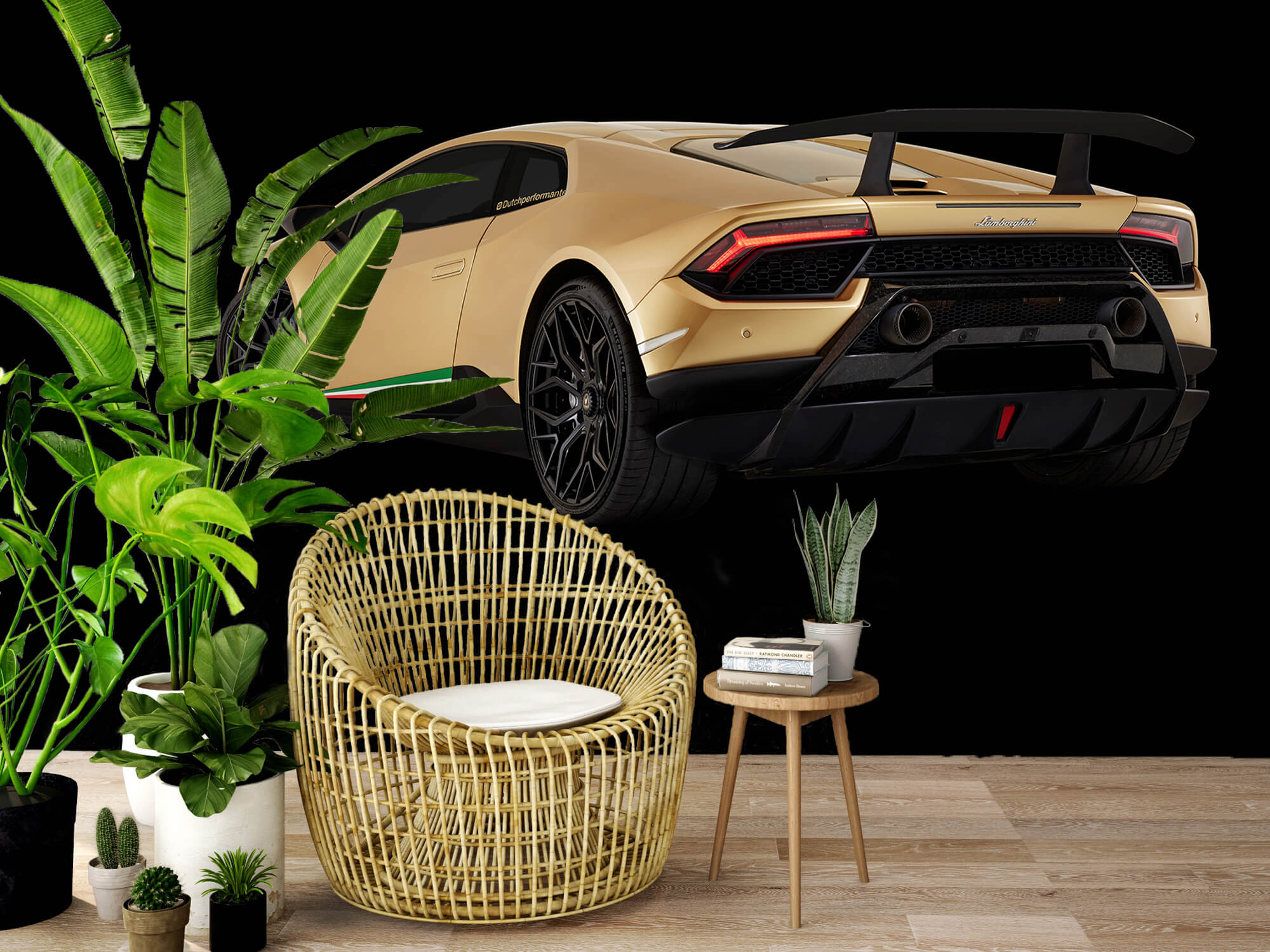 Wallpaper Lamborghini Huracán - Linker achterkant, zwart 8