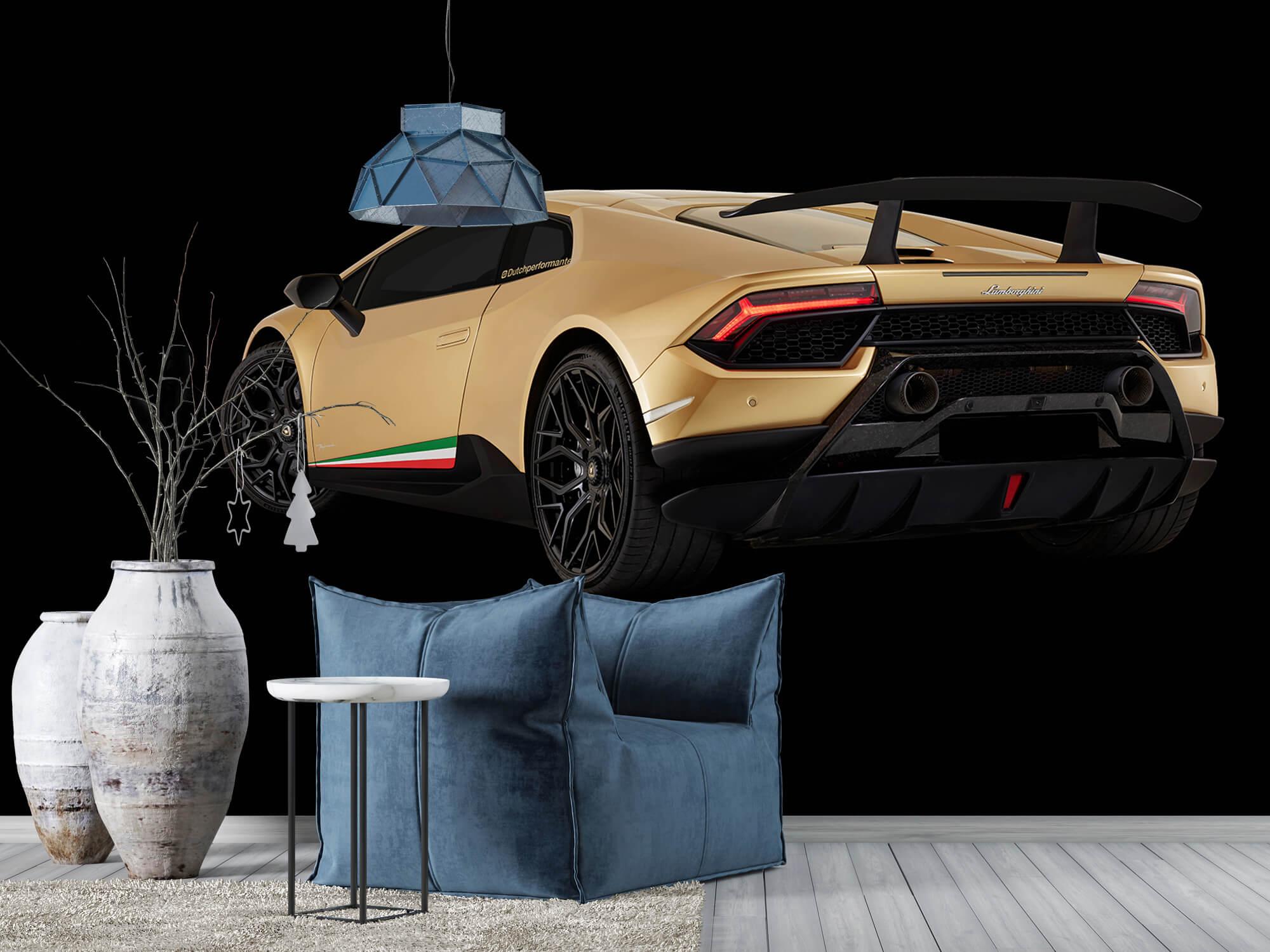 Wallpaper Lamborghini Huracán - Linker achterkant, zwart 10