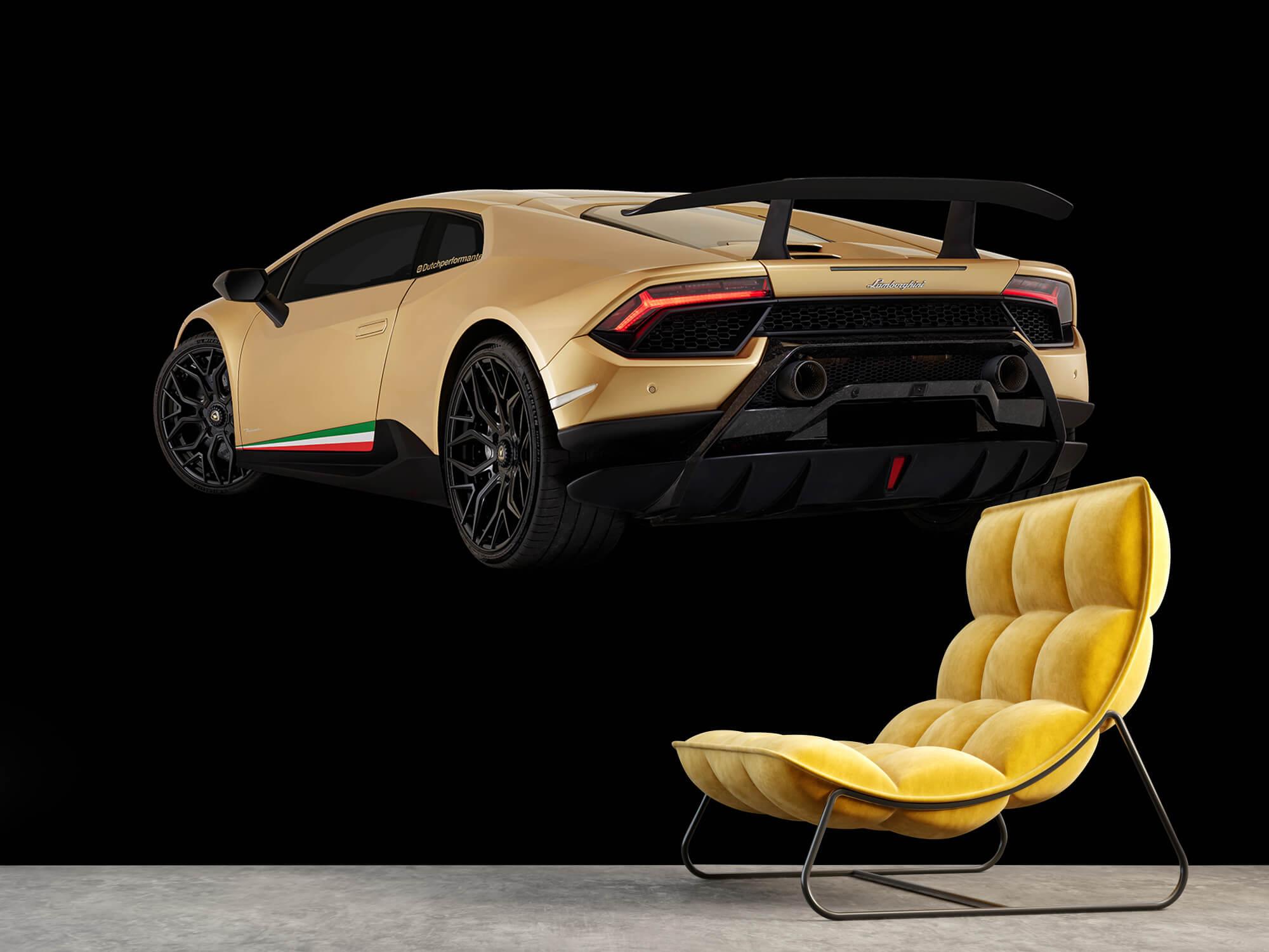 Wallpaper Lamborghini Huracán - Linker achterkant, zwart 14