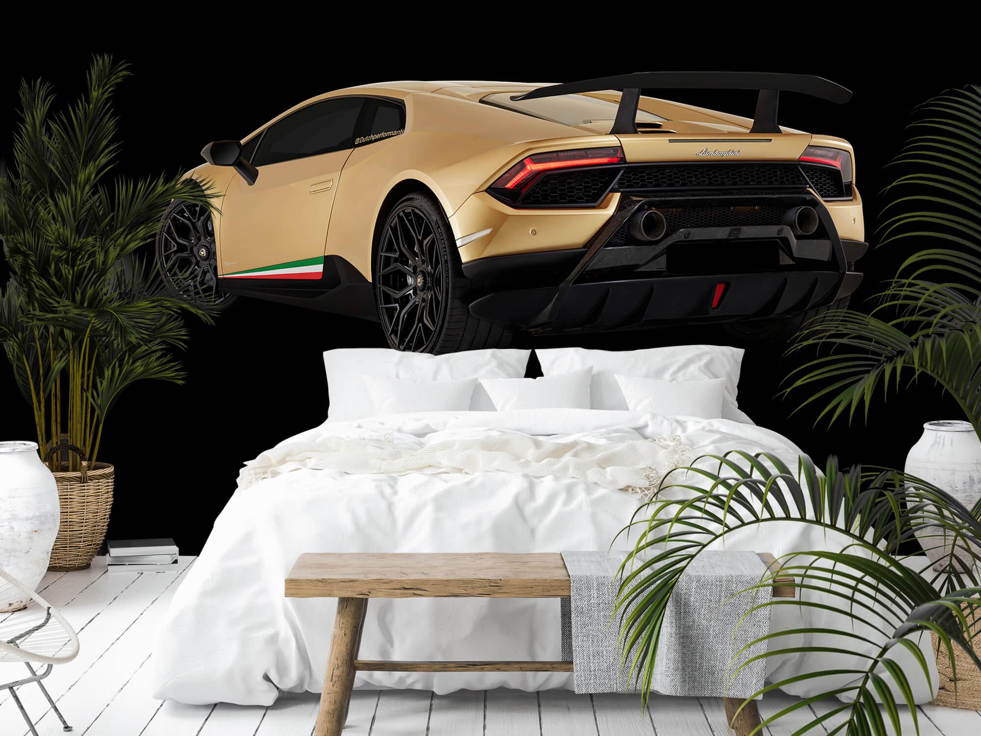 Wallpaper Lamborghini Huracán - Linker achterkant, zwart 5