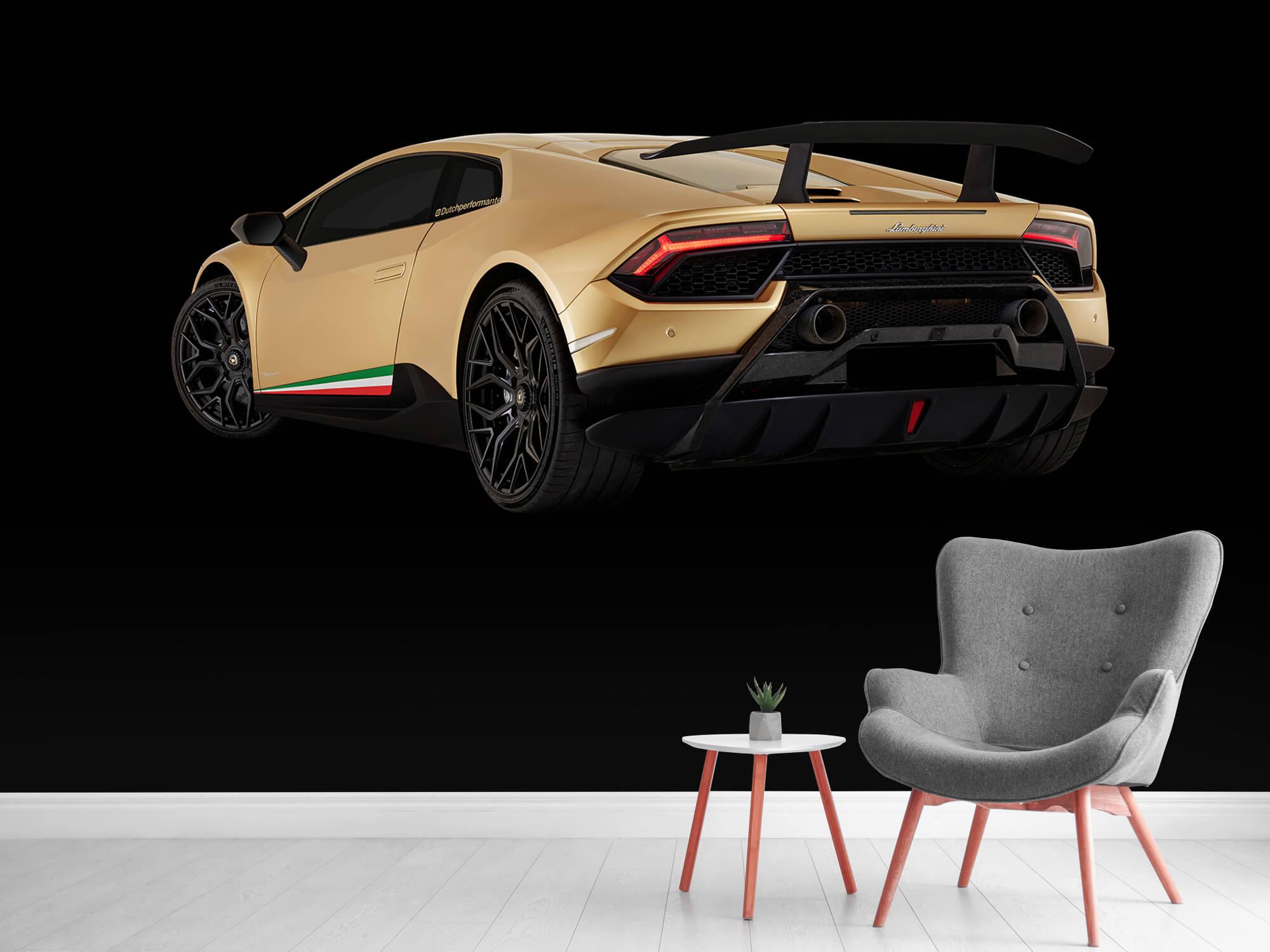 Wallpaper Lamborghini Huracán - Linker achterkant, zwart 12