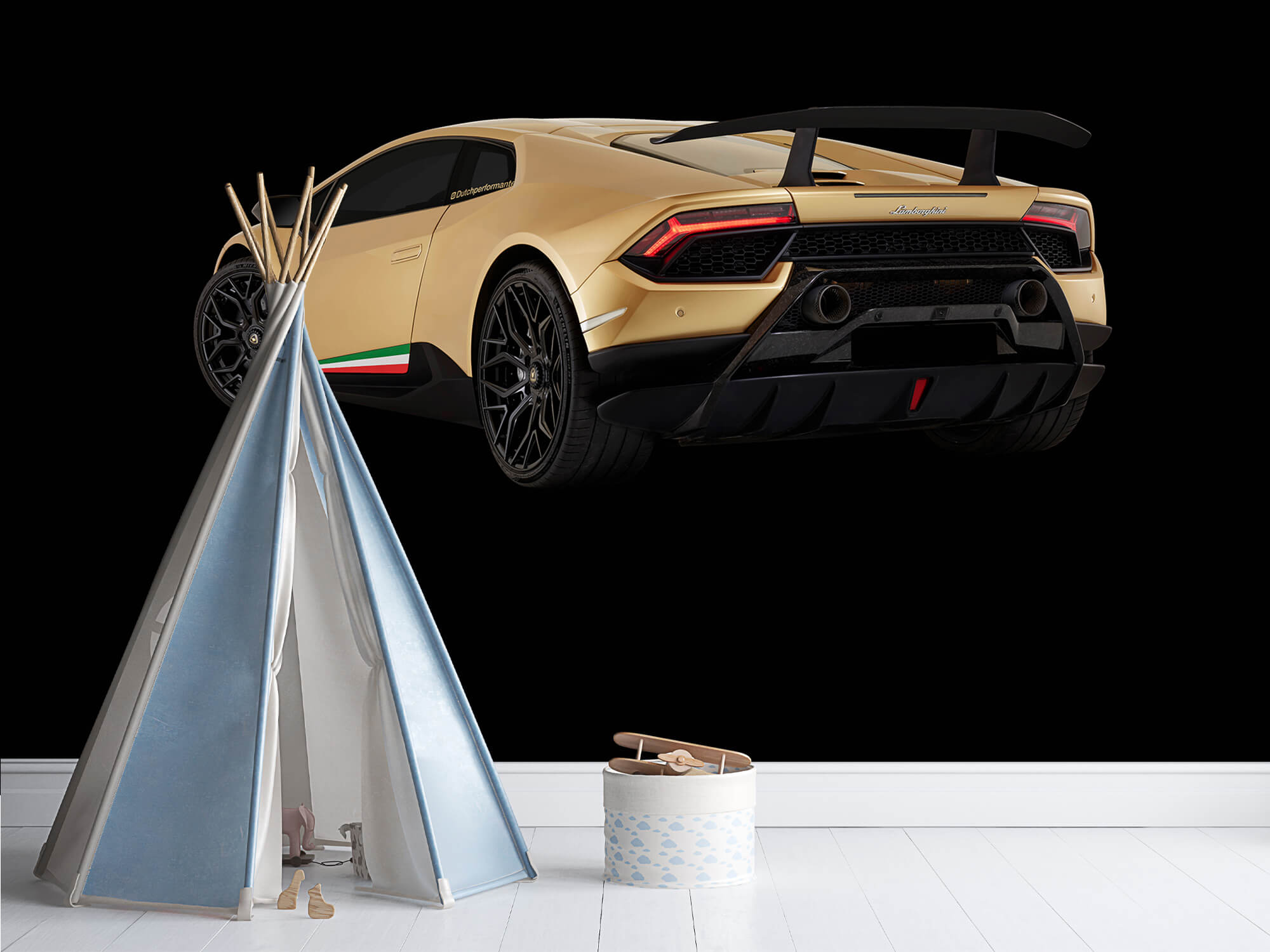 Wallpaper Lamborghini Huracán - Linker achterkant, zwart 4