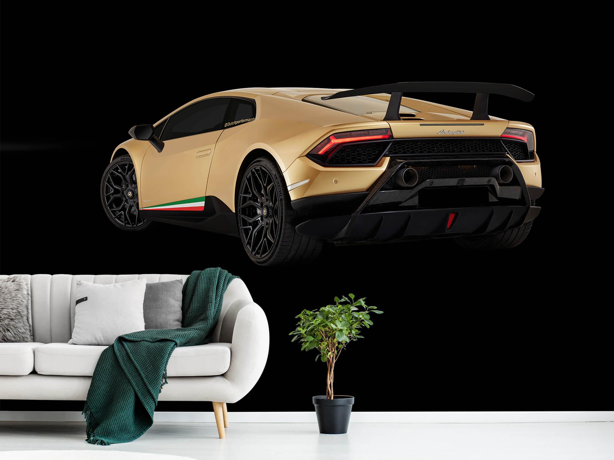 Wallpaper Lamborghini Huracán - Linker achterkant, zwart 13