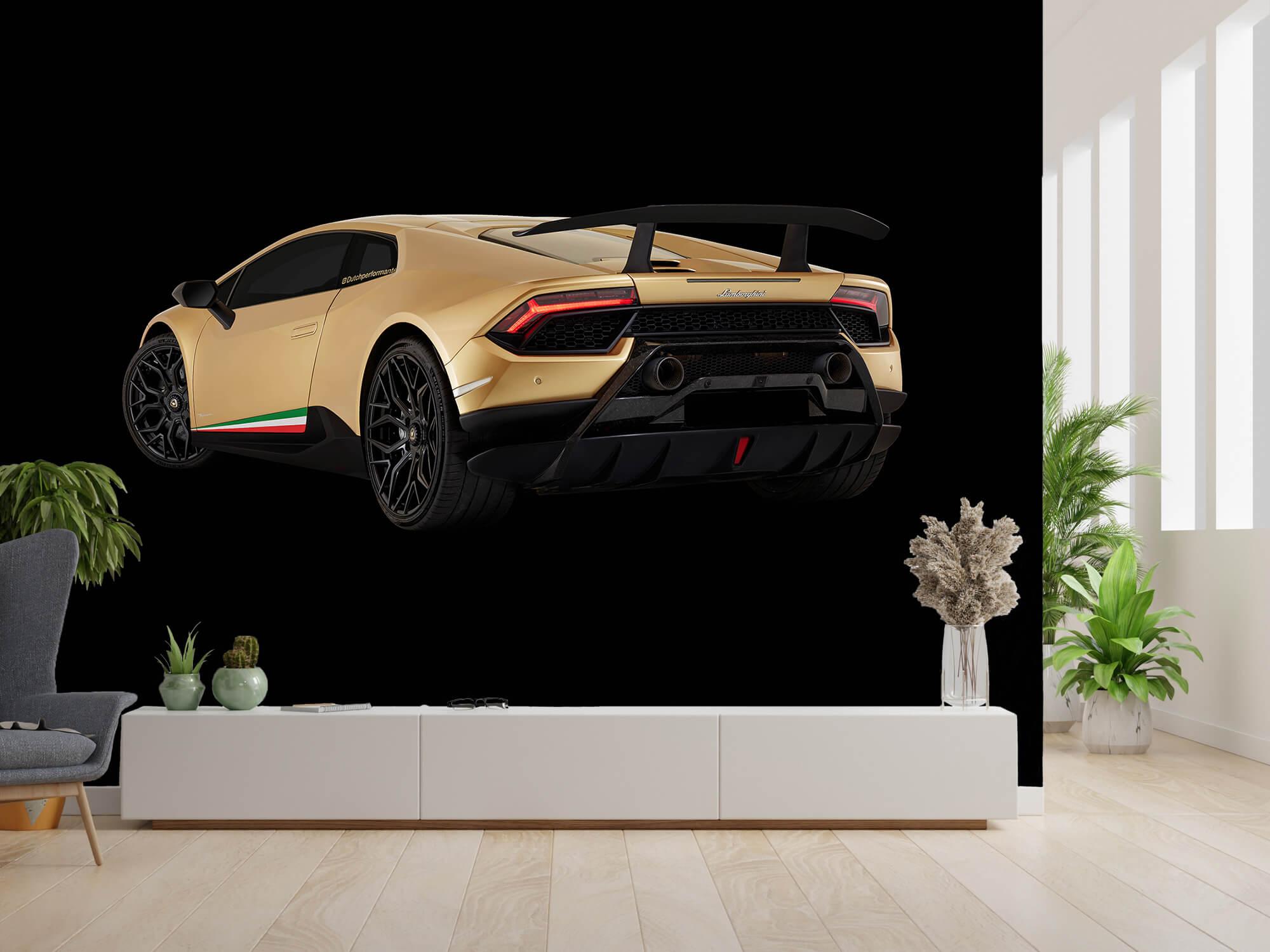 Wallpaper Lamborghini Huracán - Linker achterkant, zwart 9