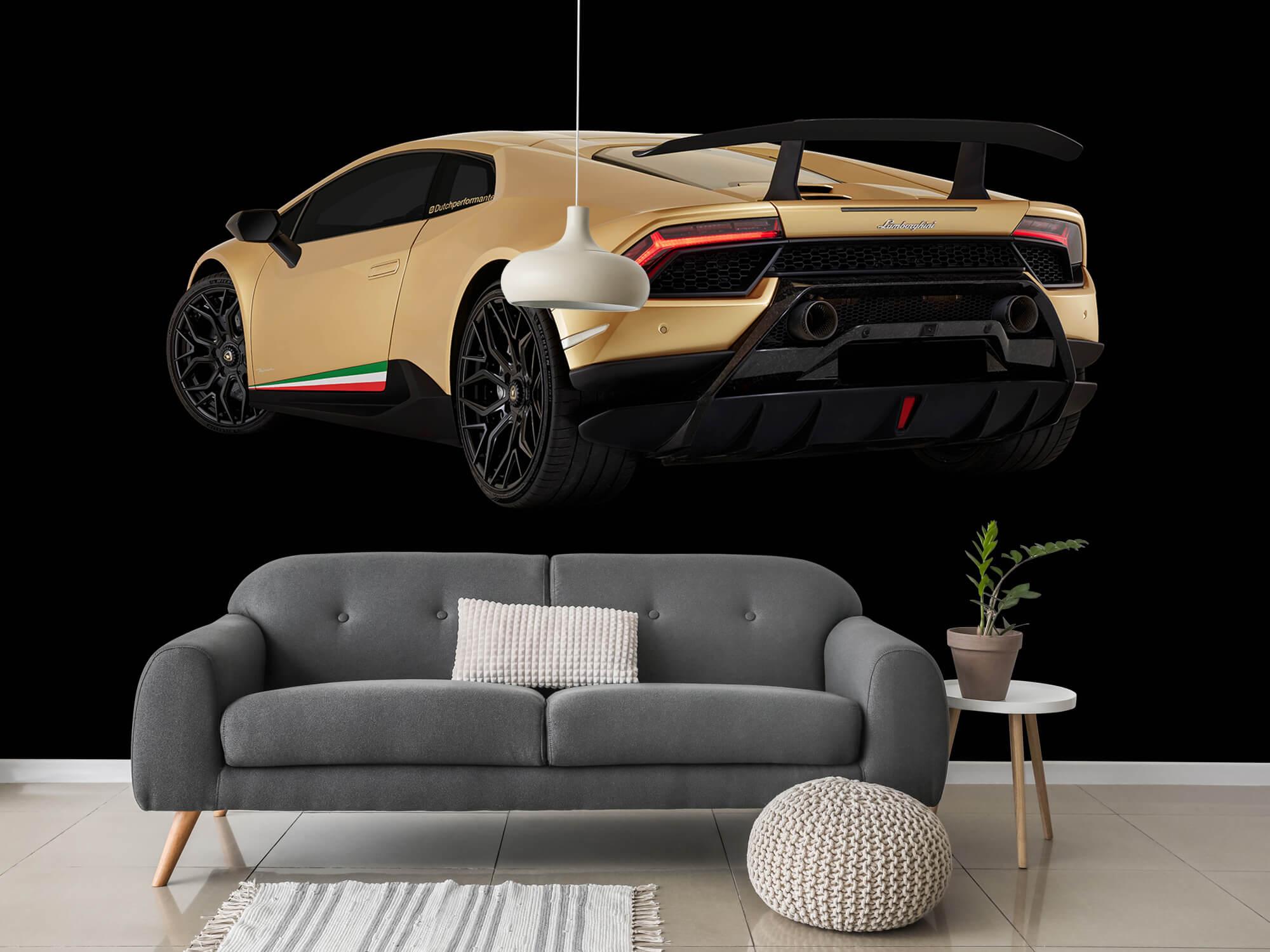 Wallpaper Lamborghini Huracán - Linker achterkant, zwart 3