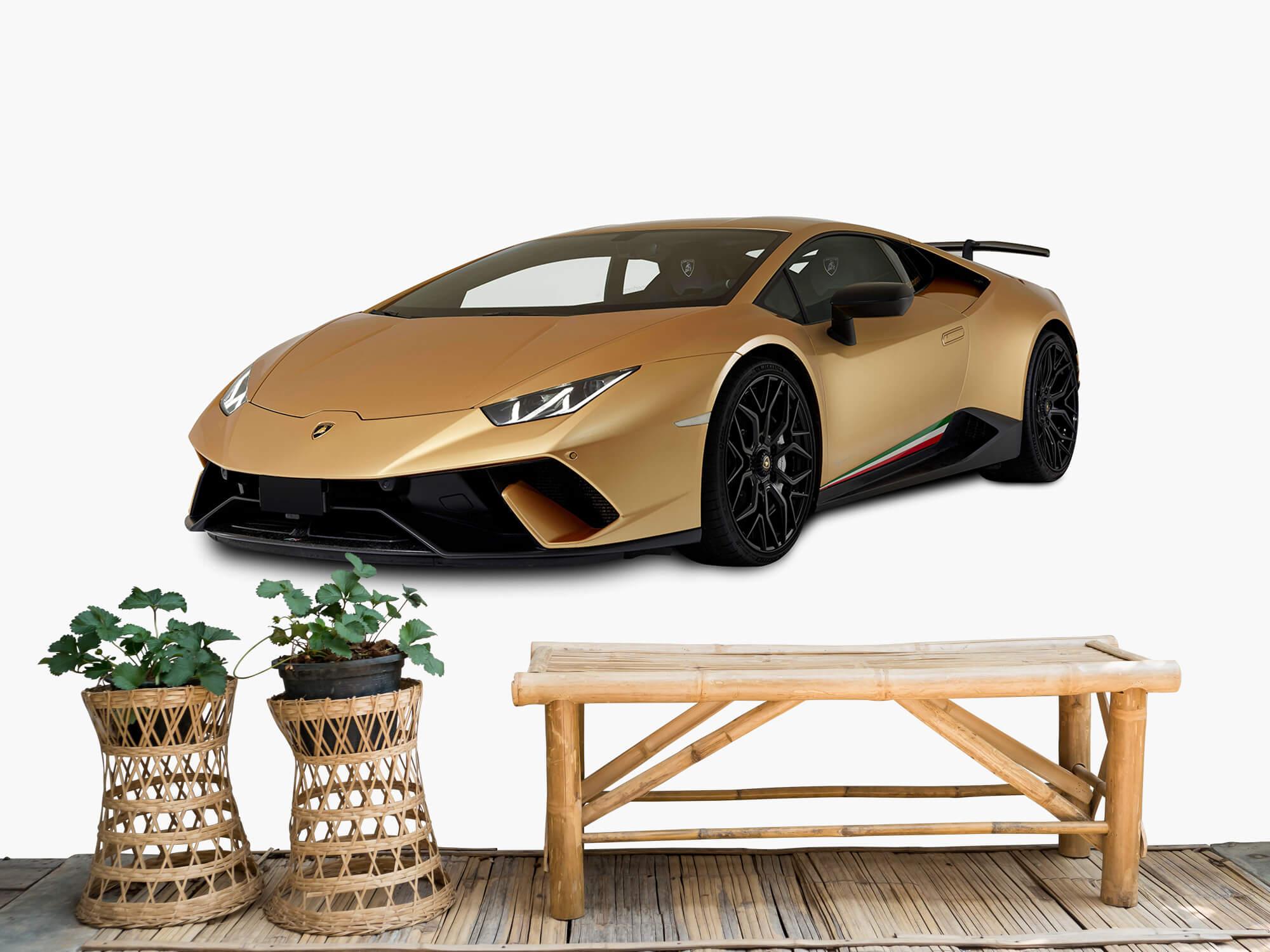 Wallpaper Lamborghini Huracán - Rechter voorkant wit 1