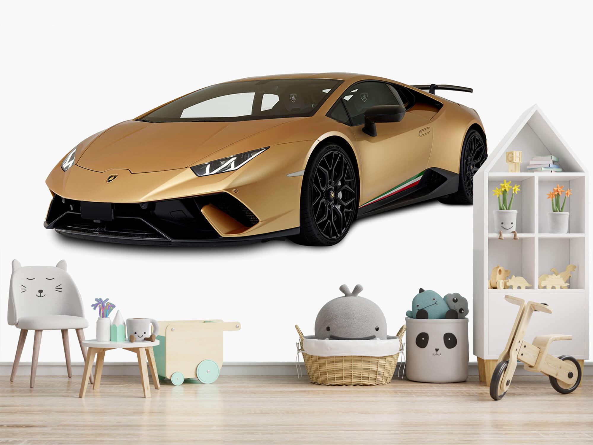 Wallpaper Lamborghini Huracán - Rechter voorkant wit 3