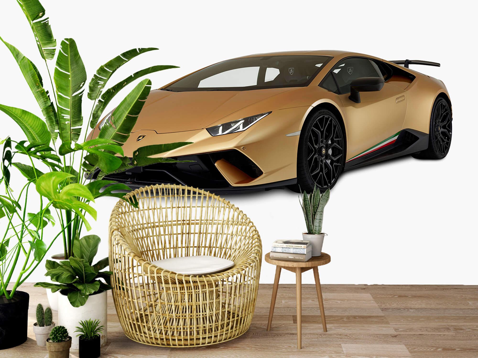 Wallpaper Lamborghini Huracán - Rechter voorkant wit 4