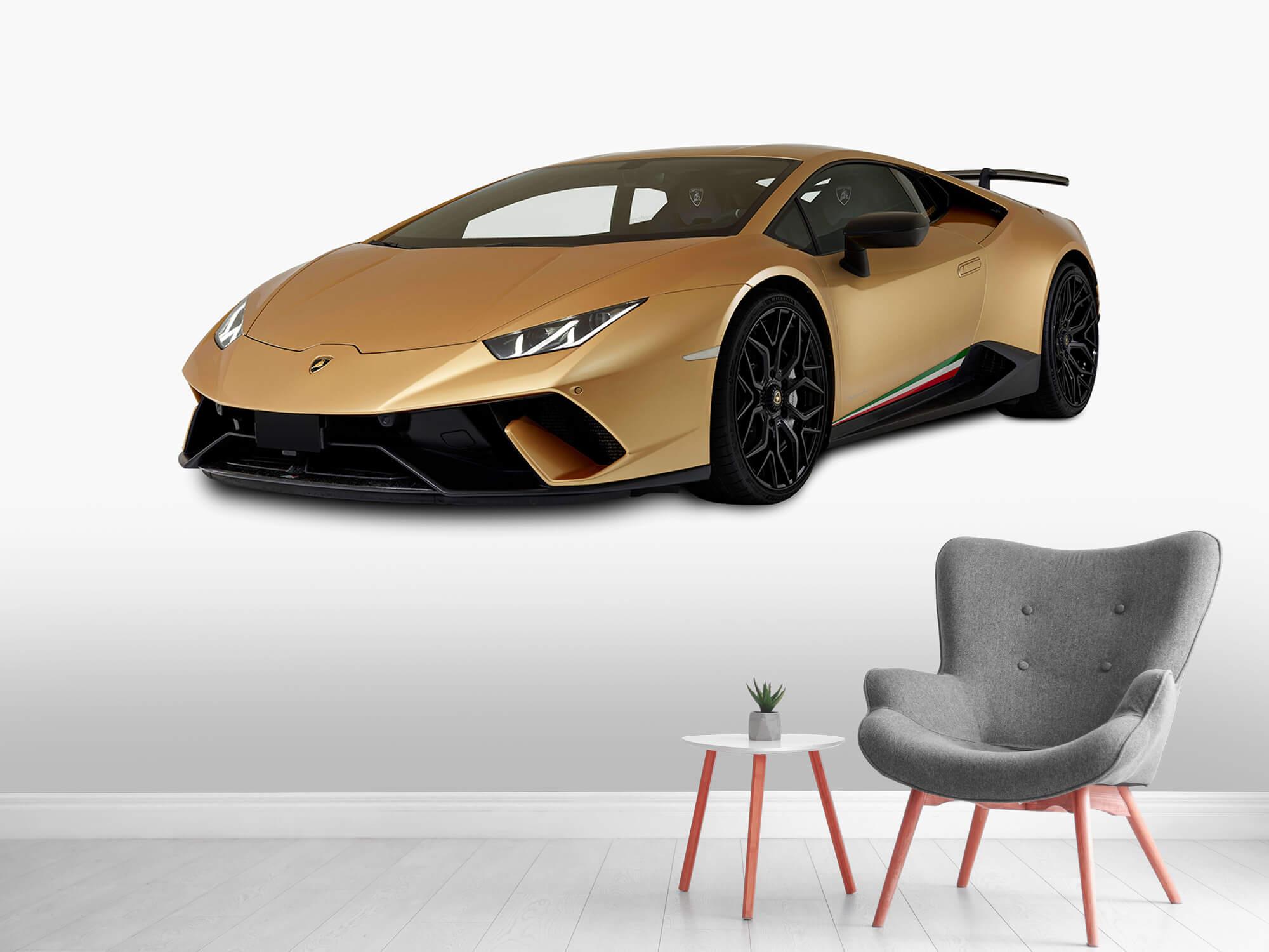 Wallpaper Lamborghini Huracán - Rechter voorkant wit 9