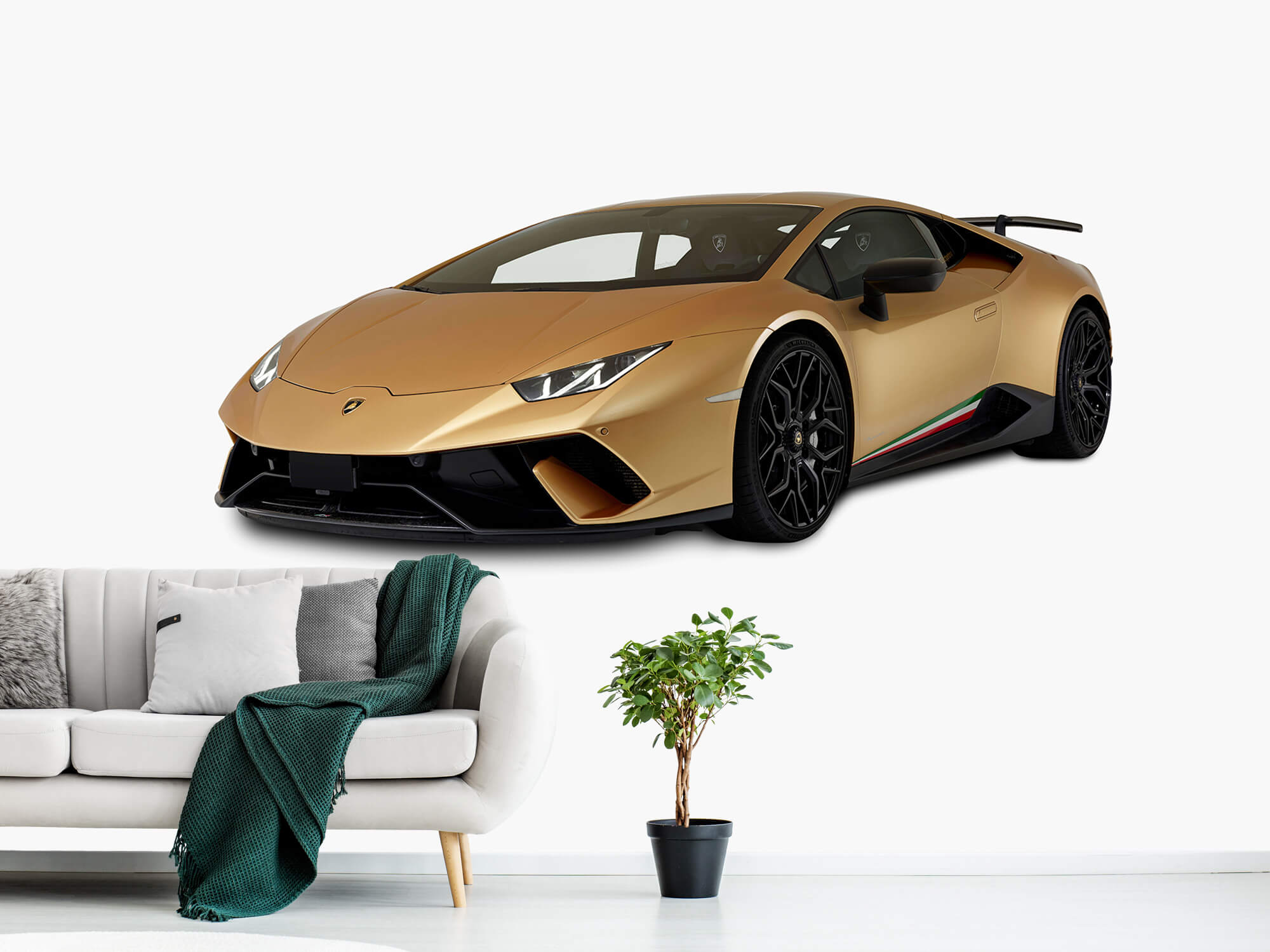 Wallpaper Lamborghini Huracán - Rechter voorkant wit 11