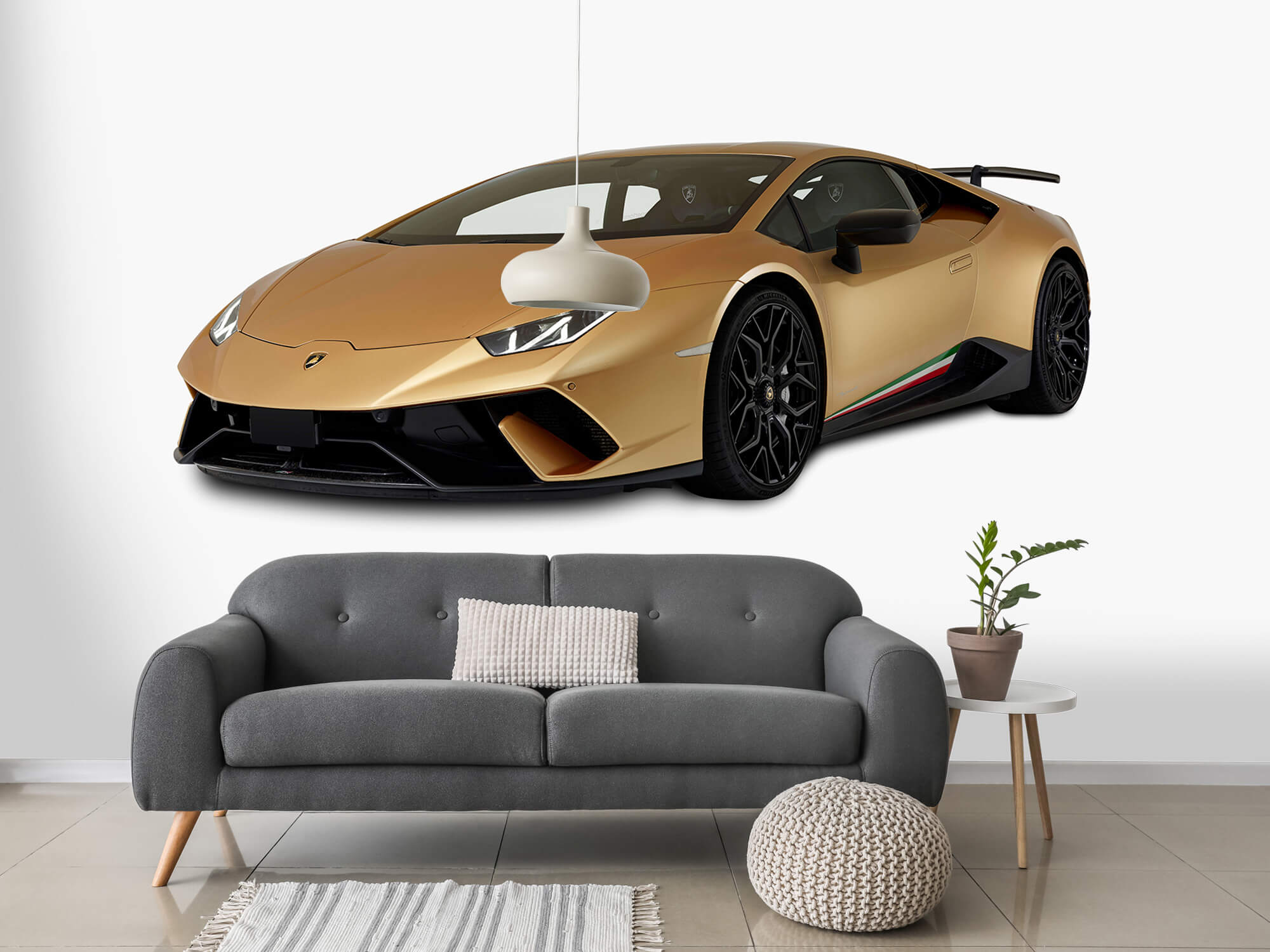 Wallpaper Lamborghini Huracán - Rechter voorkant wit 15