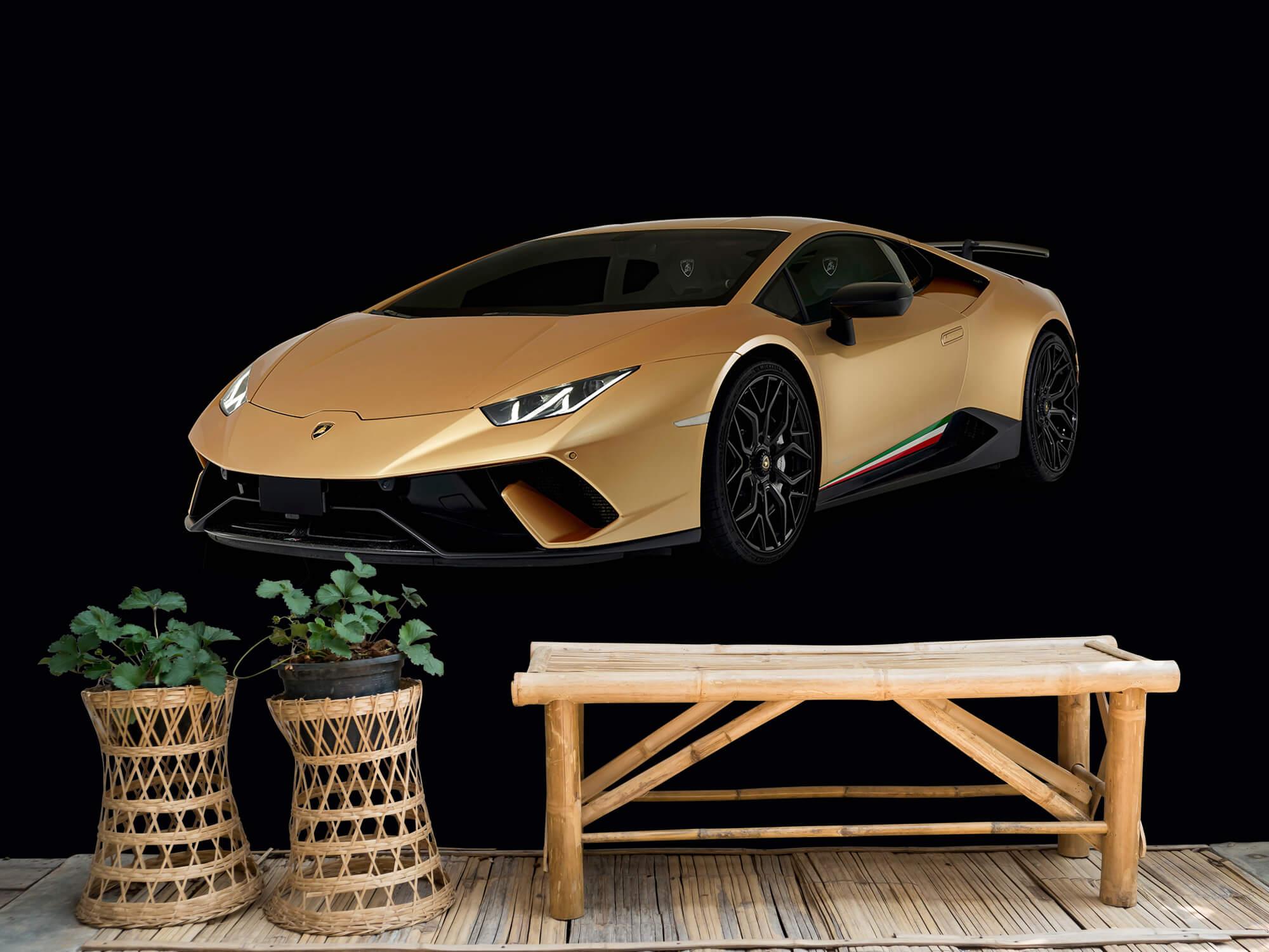 Wallpaper Lamborghini Huracán - Rechter voorkant, zwart 6