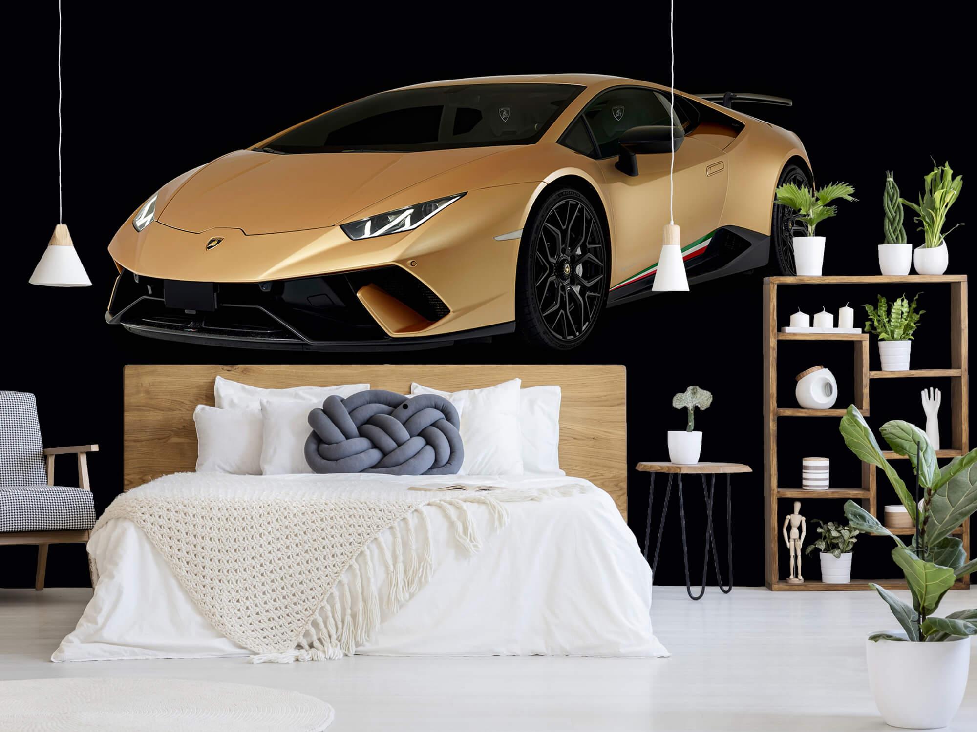 Wallpaper Lamborghini Huracán - Rechter voorkant, zwart 7