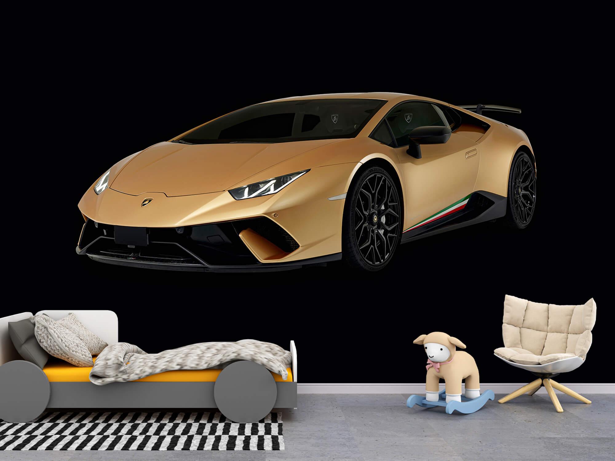 Wallpaper Lamborghini Huracán - Rechter voorkant, zwart 9