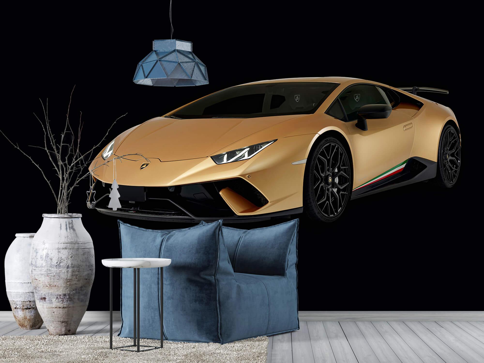 Wallpaper Lamborghini Huracán - Rechter voorkant, zwart 10