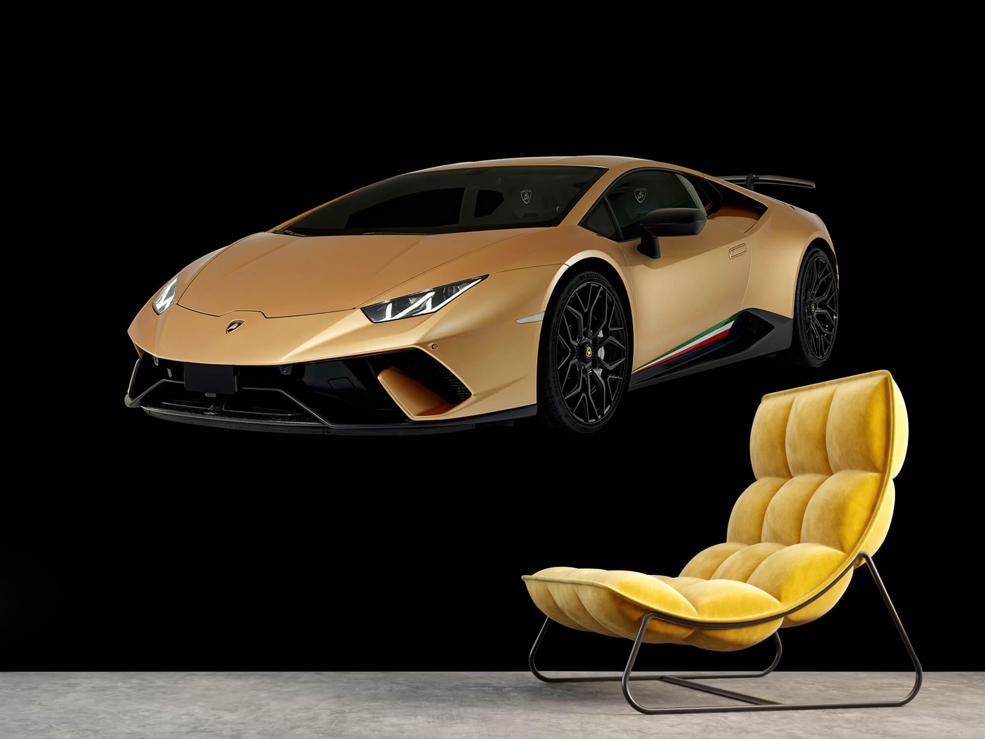 Wallpaper Lamborghini Huracán - Rechter voorkant, zwart 3
